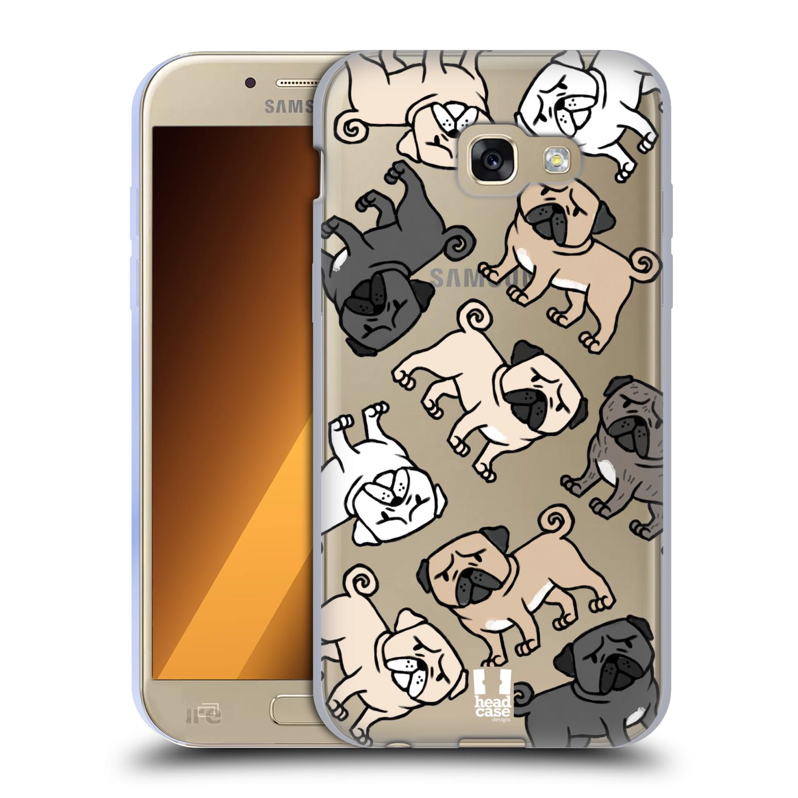 HEAD CASE silikonový obal na mobil Samsung Galaxy A5 2017 (A520) pejsek Pug Mopsík