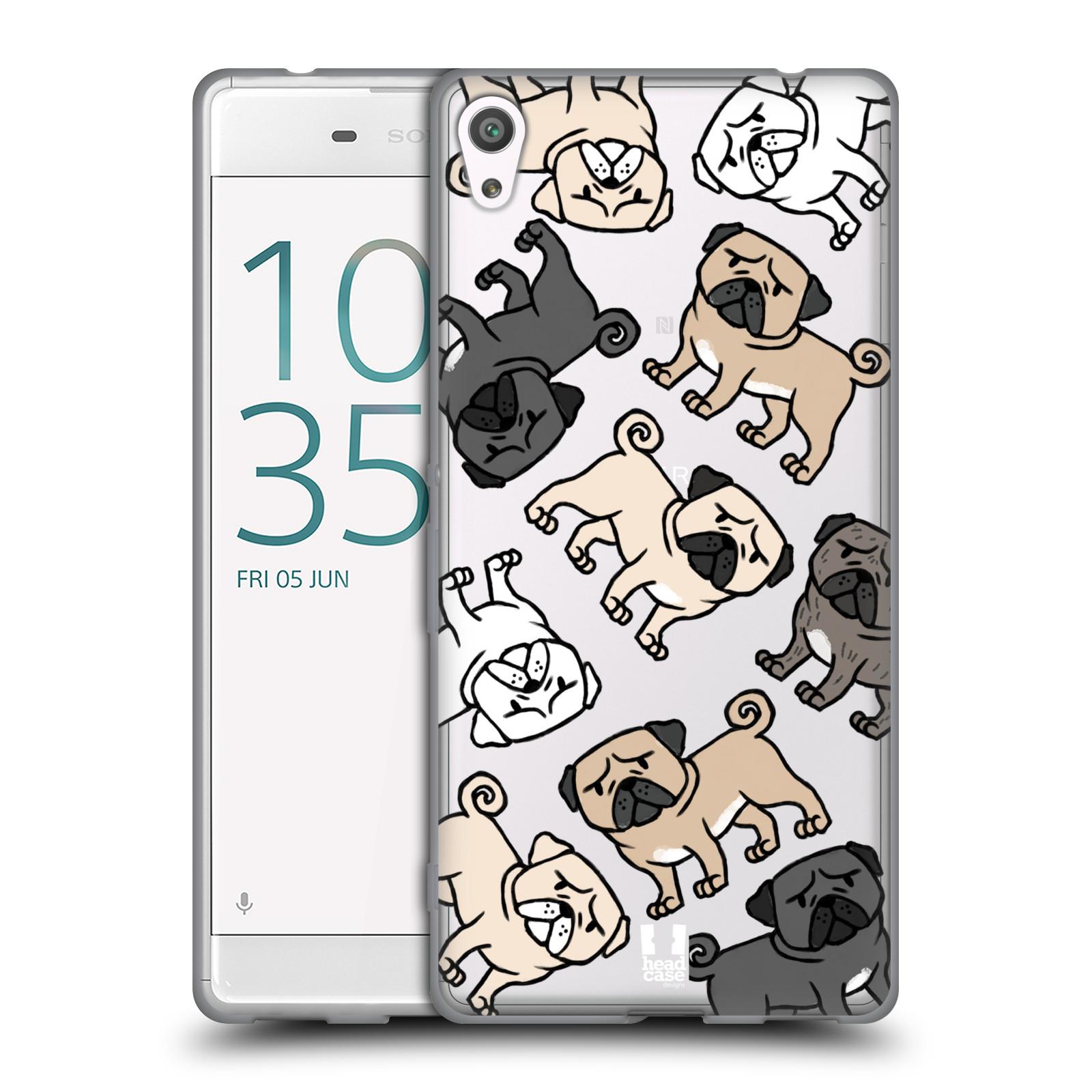 HEAD CASE silikonový obal na mobil Sony Xperia XA ULTRA pejsek Pug Mopsík