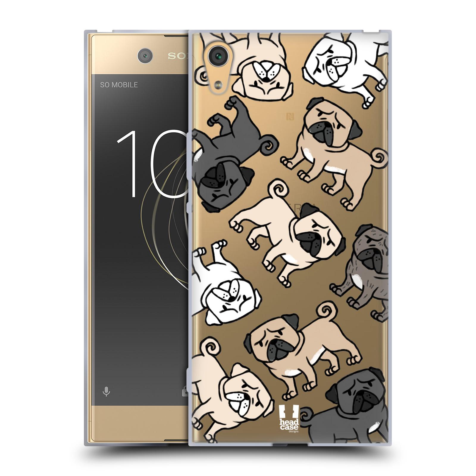 HEAD CASE silikonový obal na mobil Sony Xperia XA1 ULTRA pejsek Pug Mopsík