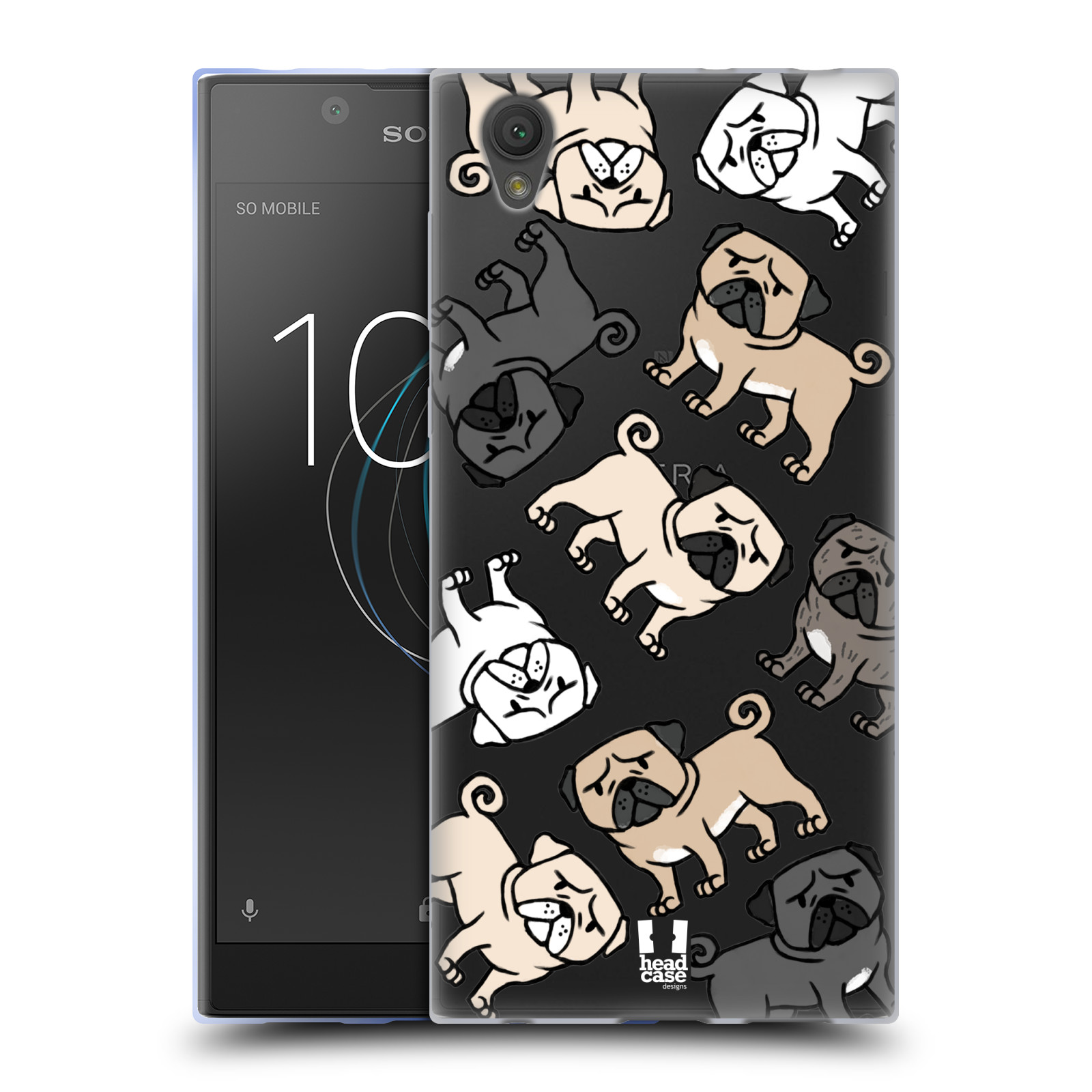 HEAD CASE silikonový obal na mobil Sony Xperia L1 pejsek Pug Mopsík