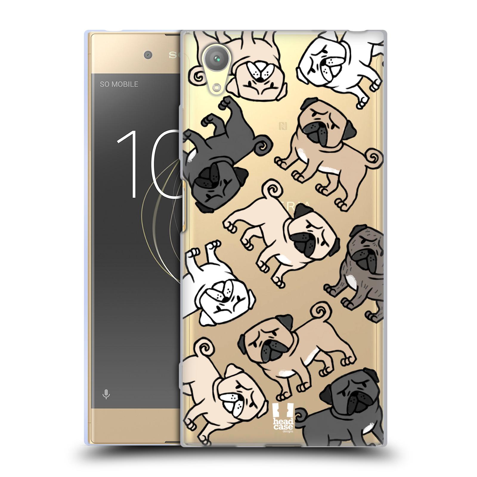 HEAD CASE silikonový obal na mobil Sony Xperia XA1 PLUS pejsek Pug Mopsík