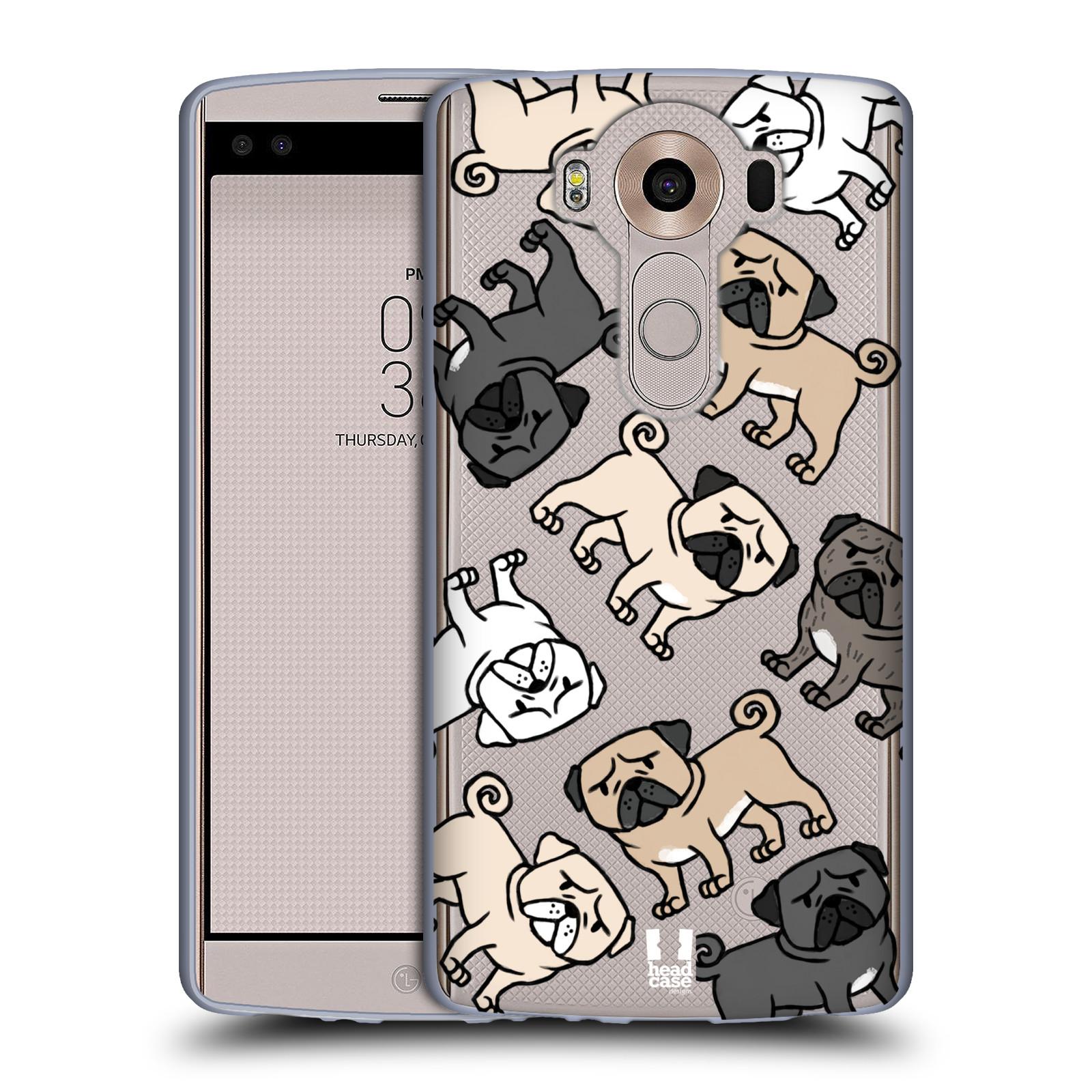 HEAD CASE silikonový obal na mobil LG V10 pejsek Pug Mopsík