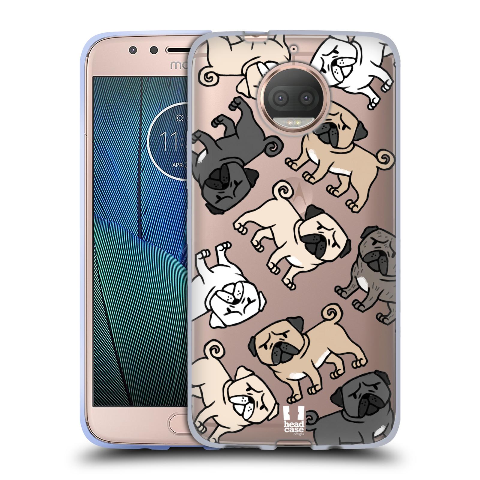 HEAD CASE silikonový obal na mobil Lenovo Moto G5s PLUS pejsek Pug Mopsík