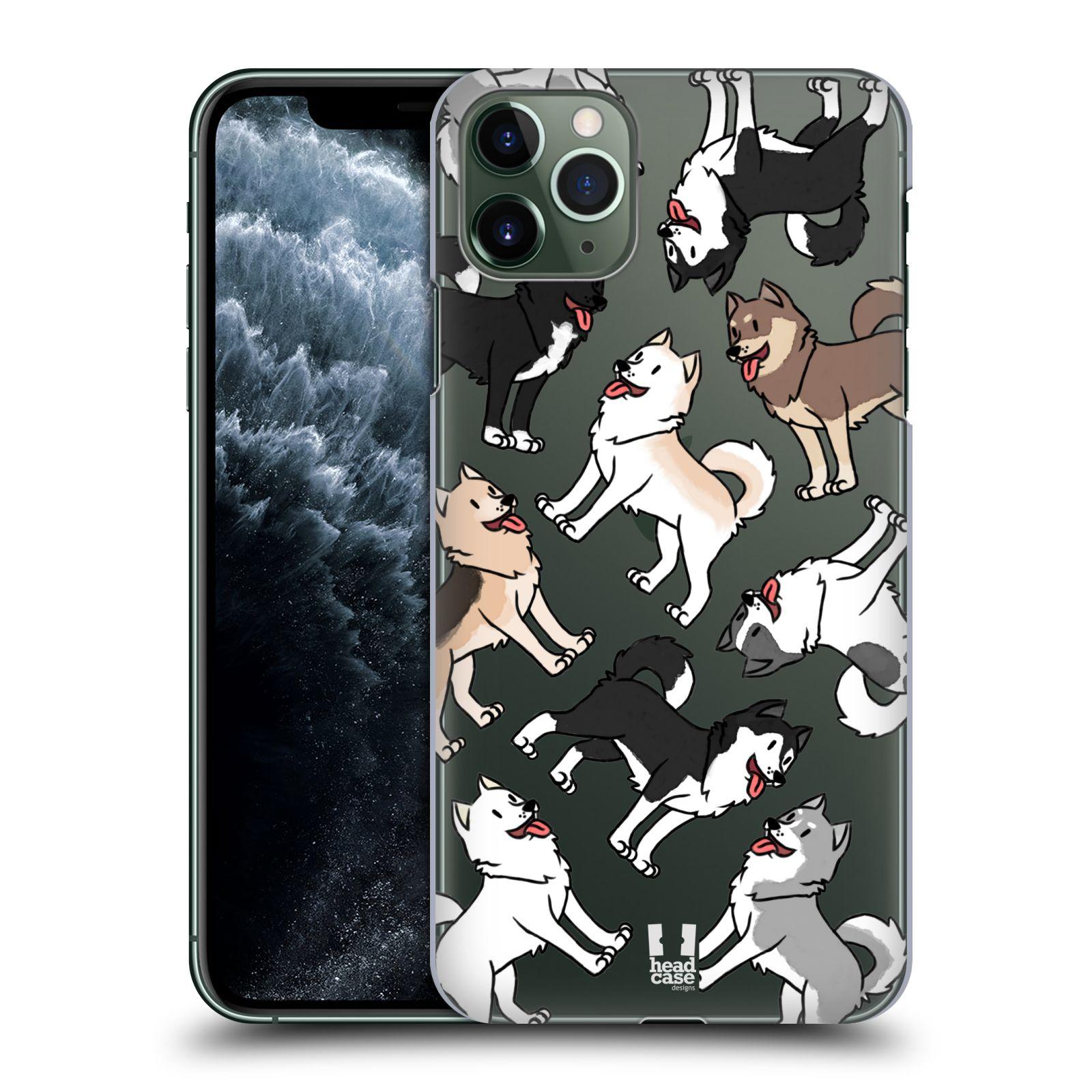 Pouzdro na mobil Apple Iphone 11 PRO MAX - HEAD CASE - pejsek Sibiřský husky
