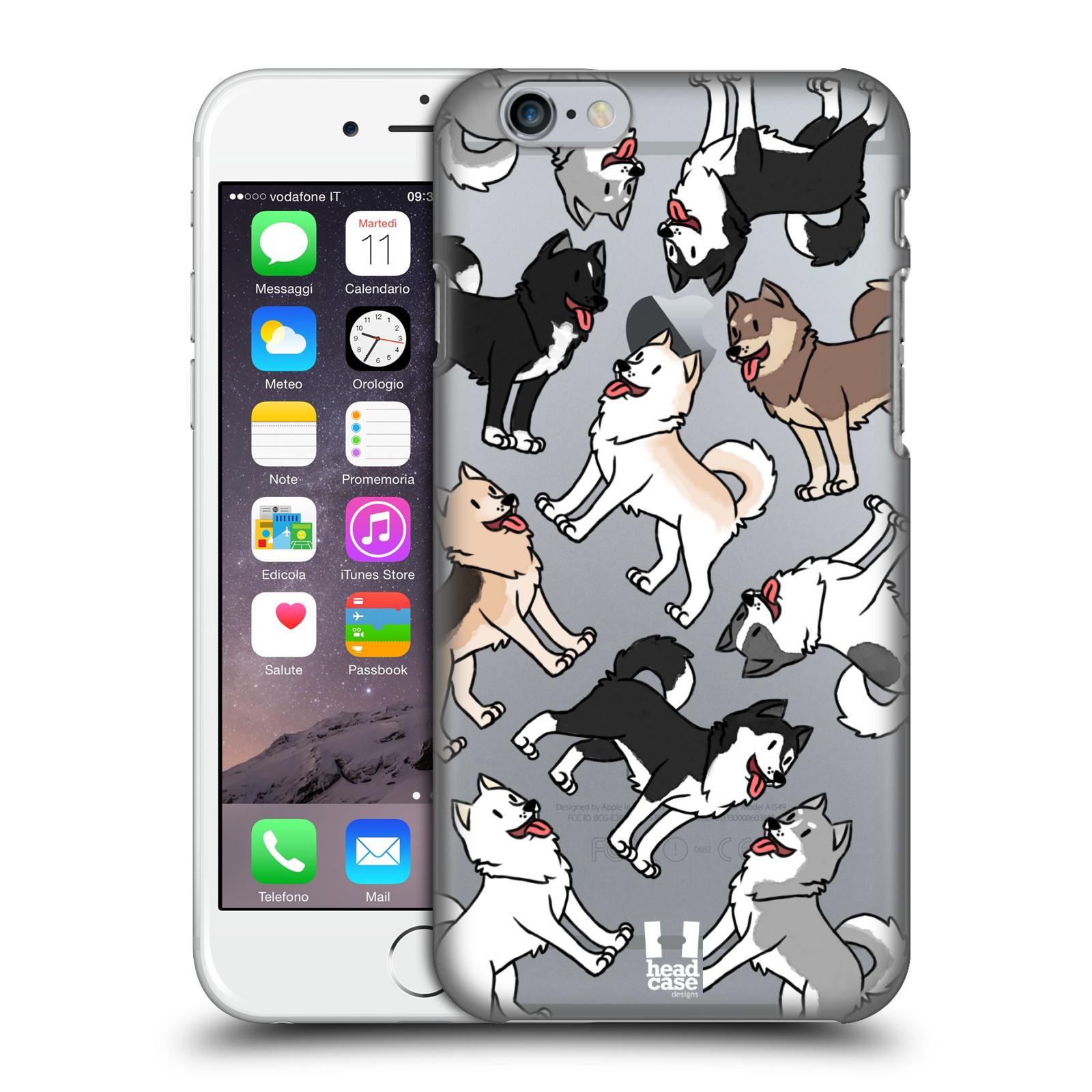 Plastové pouzdro pro mobil Apple Iphone 6/6S pejsek Sibiřský husky