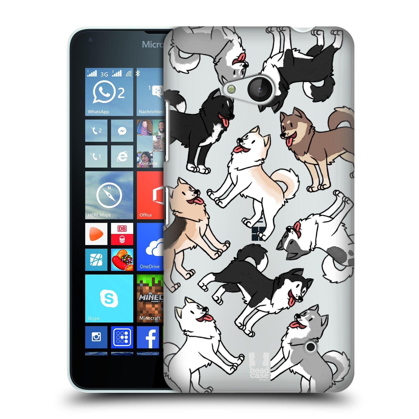 HEAD CASE plastový obal na mobil Nokia Lumia 640 pejsek Sibiřský husky
