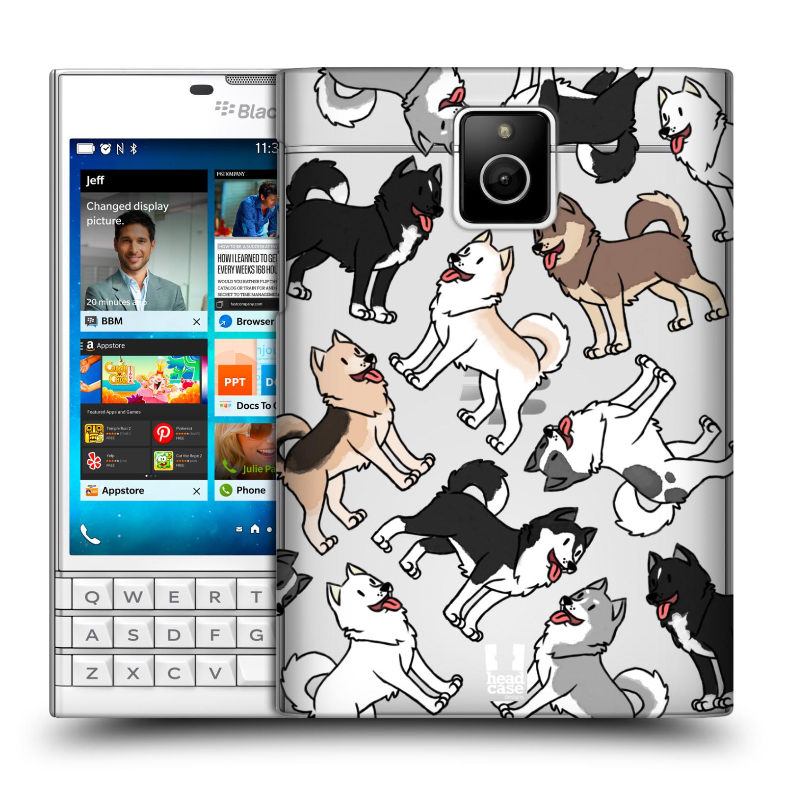 HEAD CASE plastový obal na mobil BlackBerry Passport pejsek Sibiřský husky