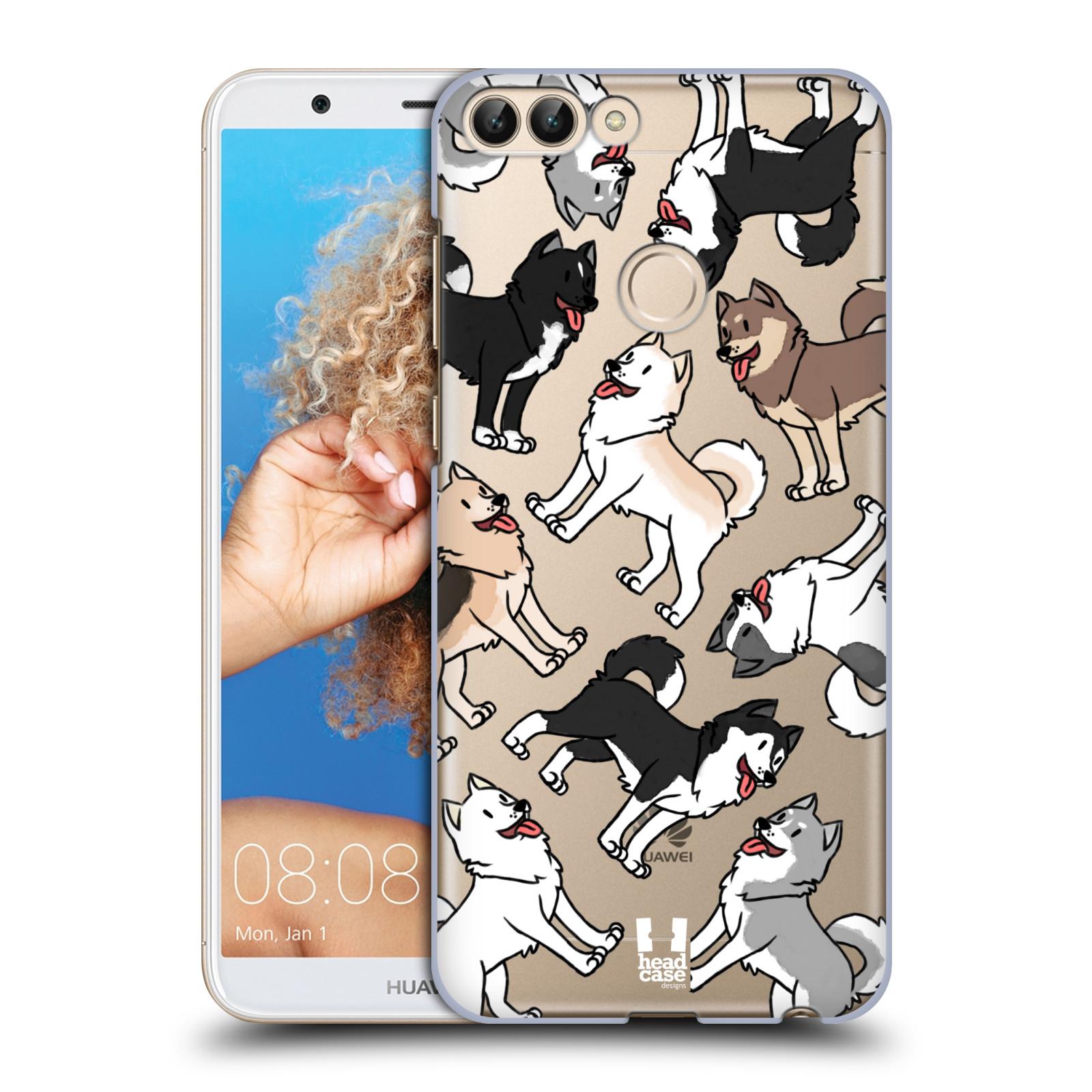 HEAD CASE plastový obal na mobil Huawei P Smart pejsek Sibiřský husky