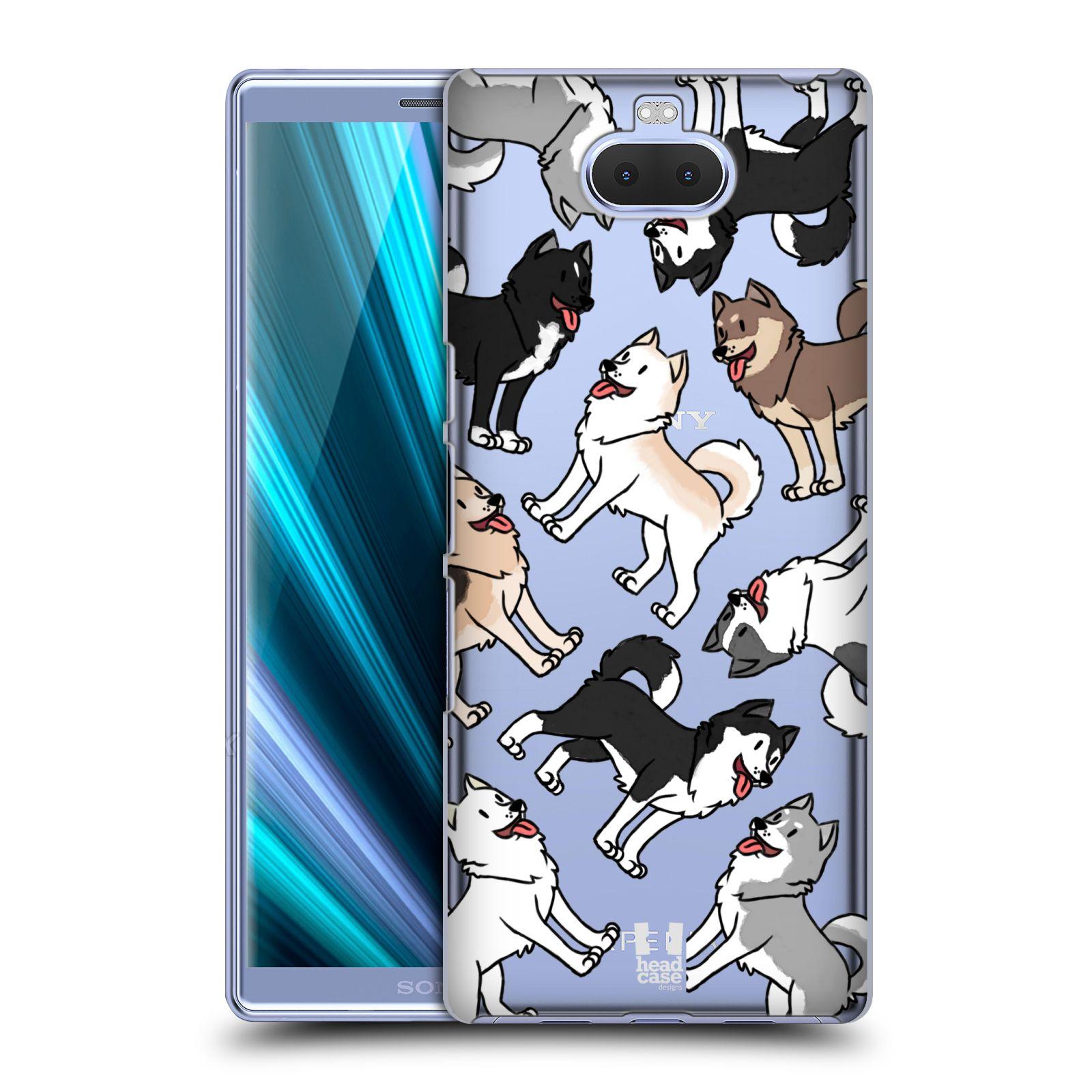 Pouzdro na mobil Sony Xperia 10 - Head Case - pejsek Sibiřský husky
