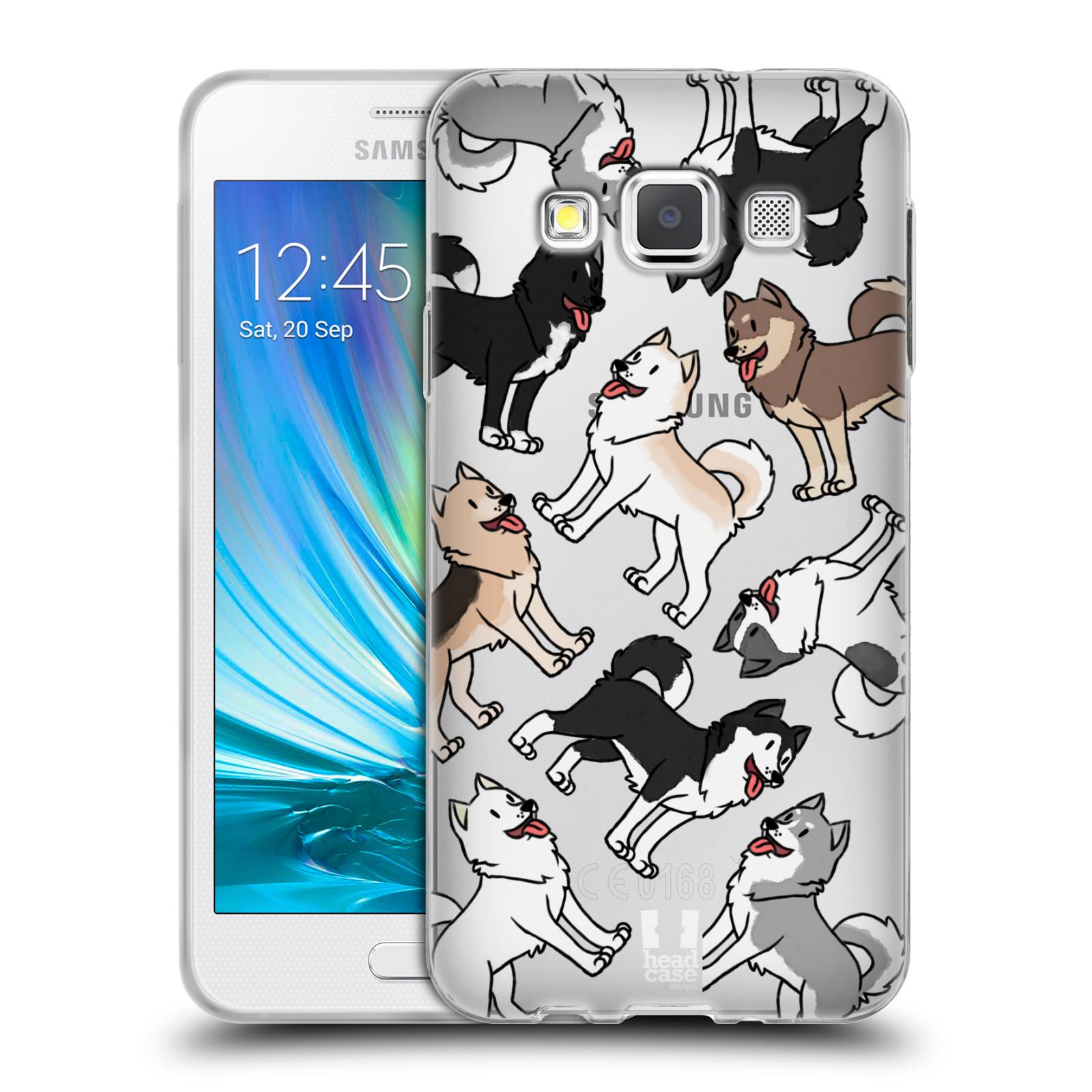 HEAD CASE silikonový obal na mobil Samsung Galaxy A3 (A300) pejsek Sibiřský husky