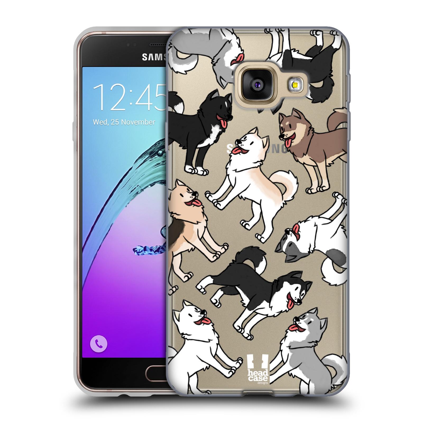 HEAD CASE silikonový obal na mobil Samsung Galaxy A3 2016 (A310) pejsek Sibiřský husky