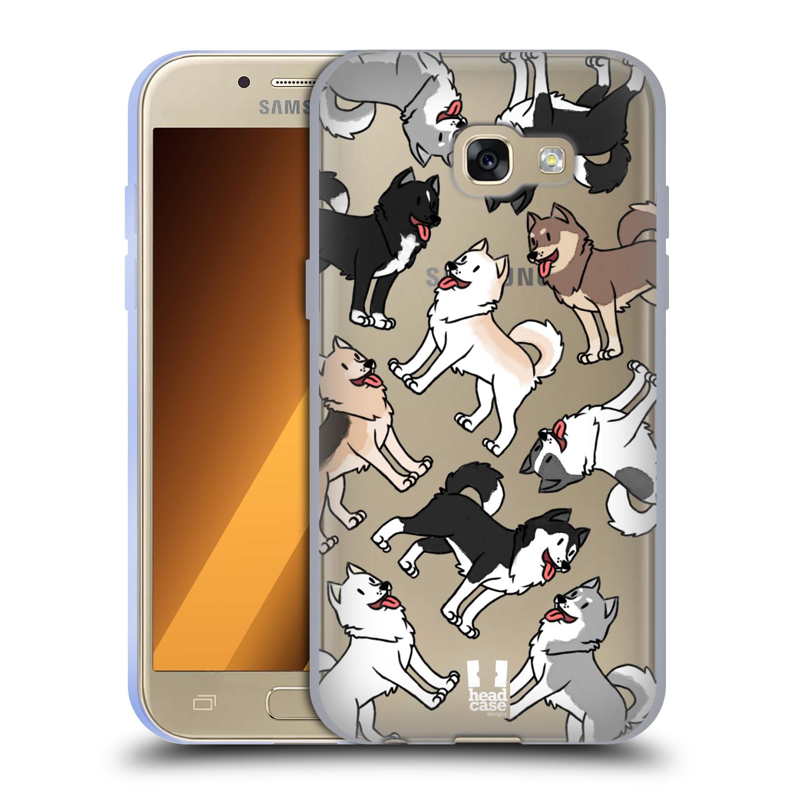 HEAD CASE silikonový obal na mobil Samsung Galaxy A3 2017 (A320) pejsek Sibiřský husky