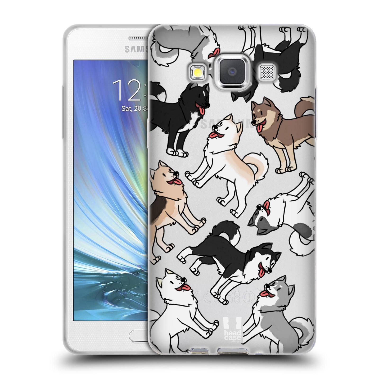 HEAD CASE silikonový obal na mobil Samsung Galaxy A5 (A500) pejsek Sibiřský husky