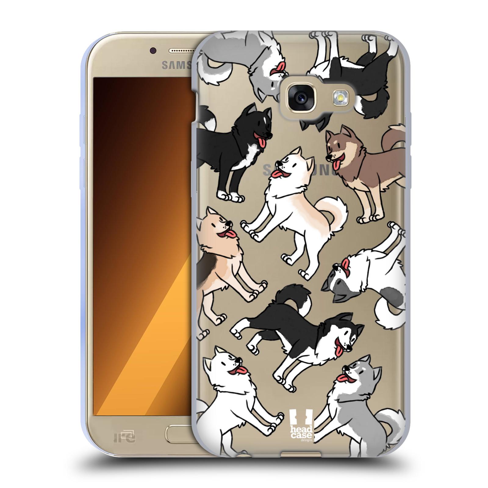 HEAD CASE silikonový obal na mobil Samsung Galaxy A5 2017 (A520) pejsek Sibiřský husky