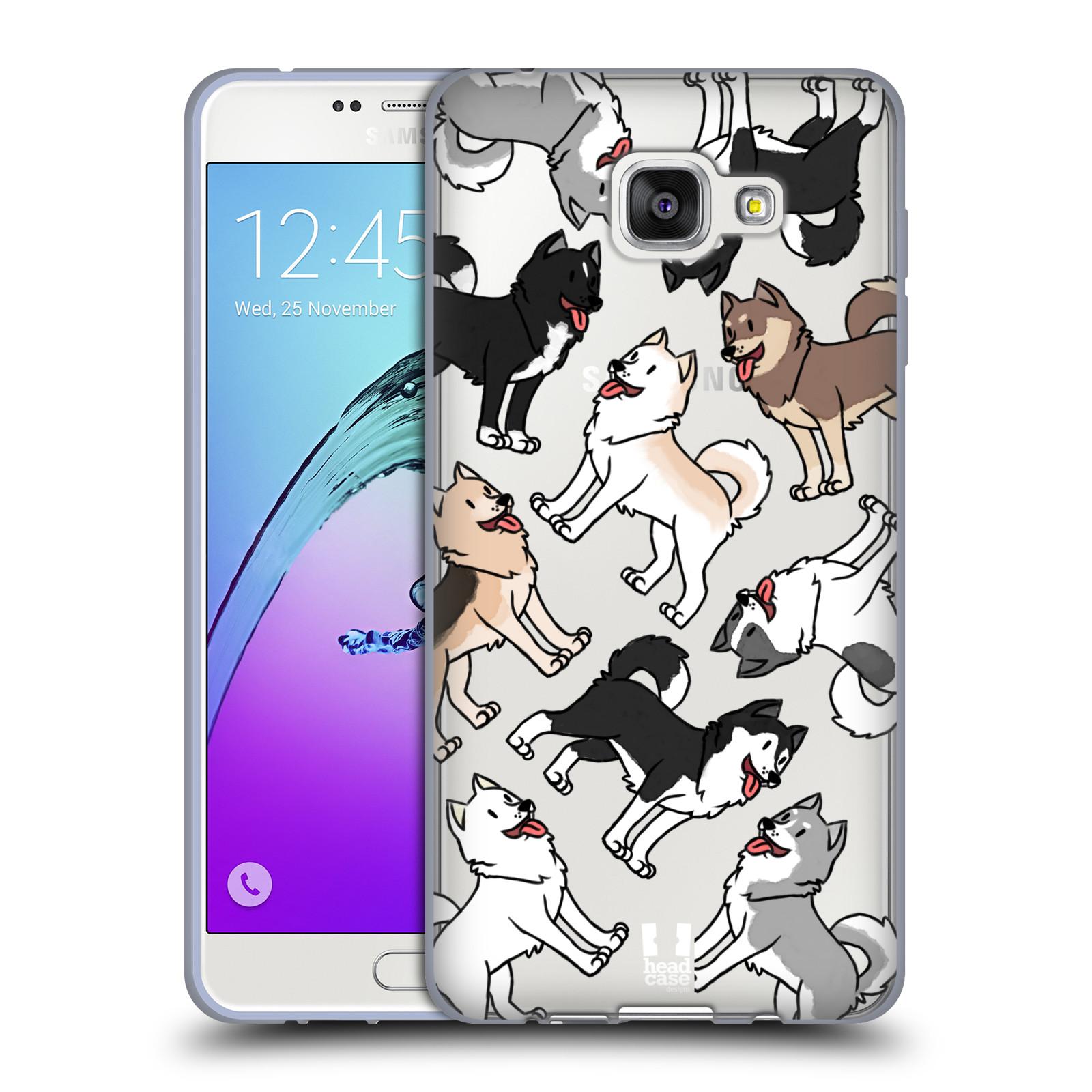 HEAD CASE silikonový obal na mobil Samsung Galaxy A7 2016 (A710) pejsek Sibiřský husky