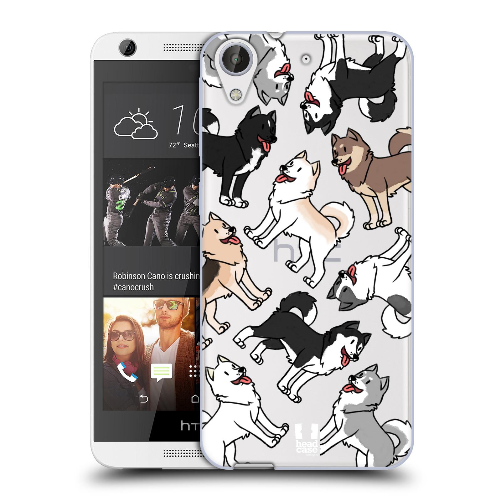HEAD CASE silikonový obal na mobil HTC Desire 626 pejsek Sibiřský husky