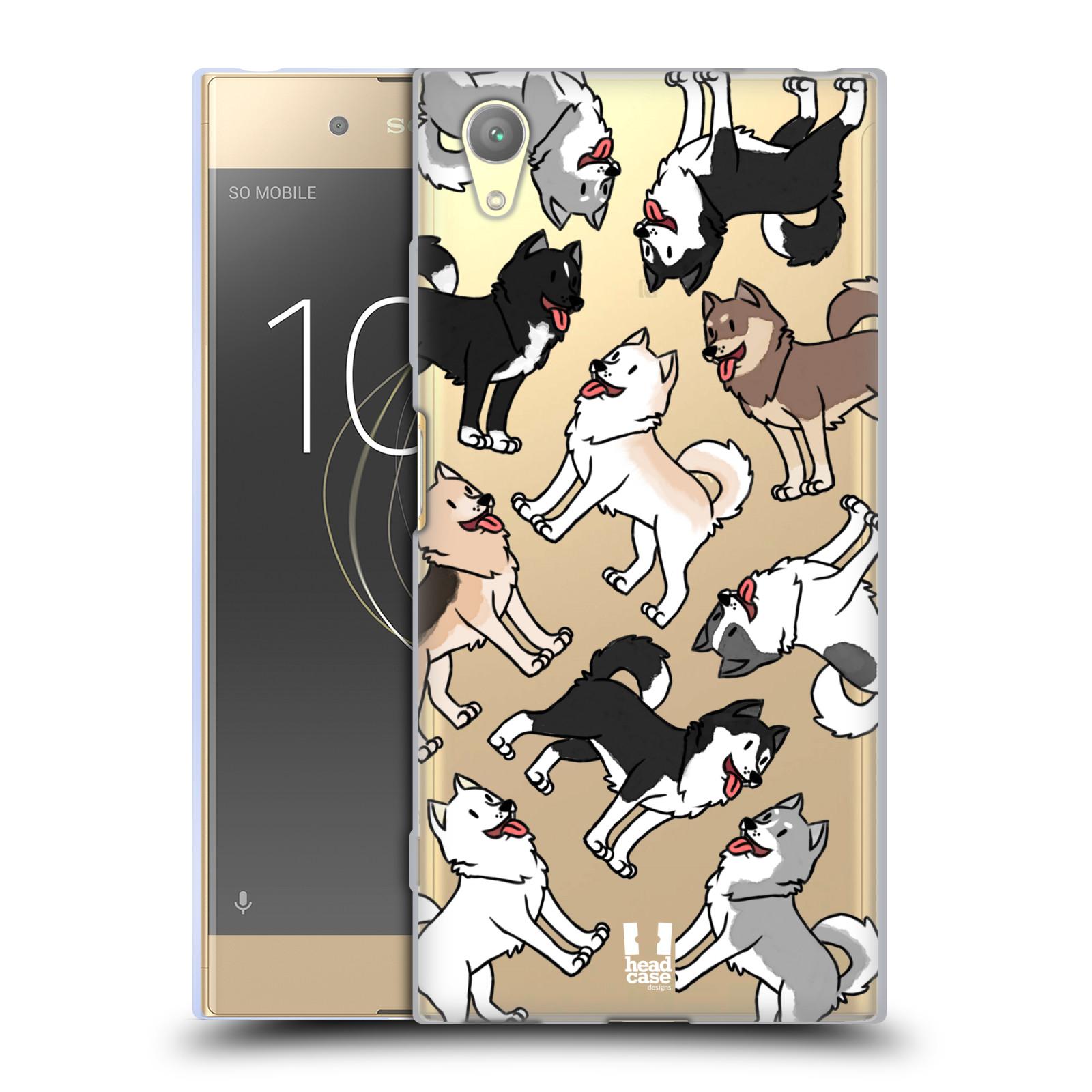 HEAD CASE silikonový obal na mobil Sony Xperia XA1 PLUS pejsek Sibiřský husky
