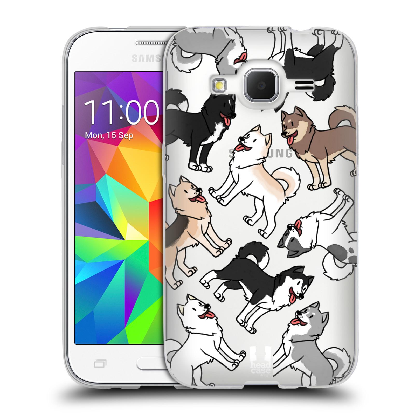 HEAD CASE silikonový obal na mobil Samsung Galaxy Core Prime (G360) pejsek Sibiřský husky