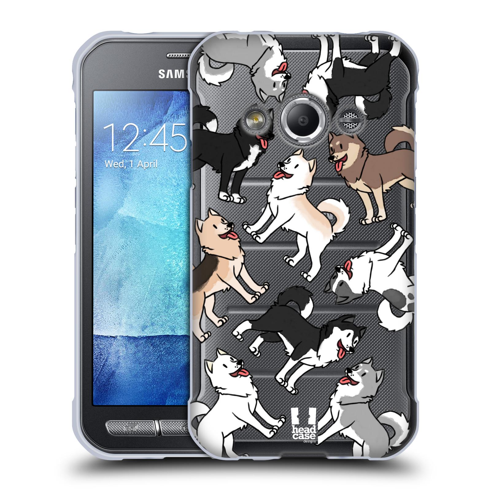 HEAD CASE silikonový obal na mobil Samsung Galaxy Xcover 3 pejsek Sibiřský husky