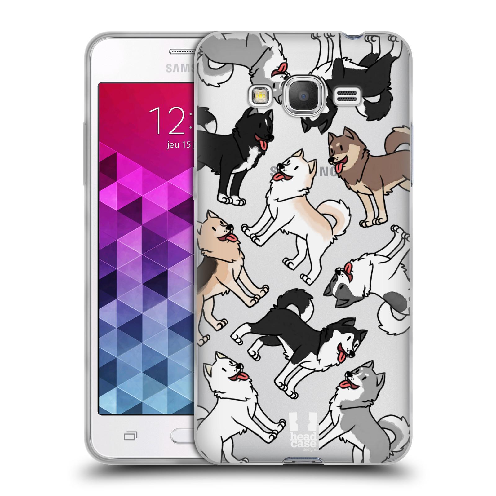 HEAD CASE silikonový obal na mobil Samsung Galaxy Grand Prime pejsek Sibiřský husky