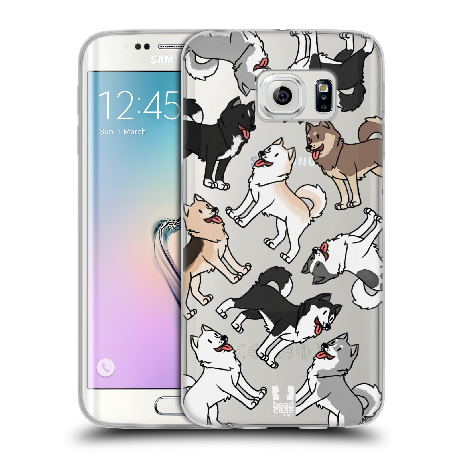 HEAD CASE silikonový obal na mobil Samsung Galaxy S6 EDGE pejsek Sibiřský husky