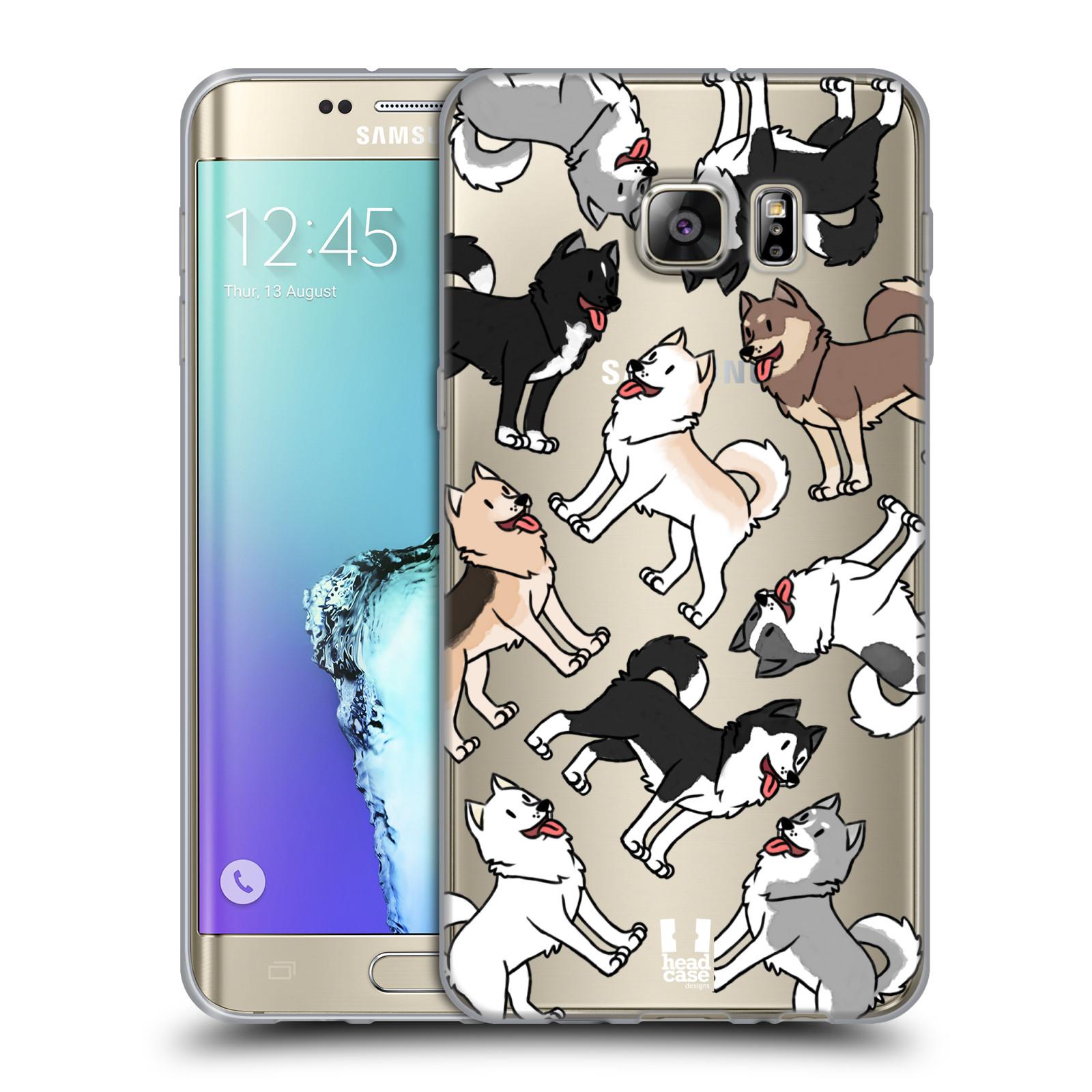 HEAD CASE silikonový obal na mobil Samsung Galaxy S6 EDGE PLUS pejsek Sibiřský husky