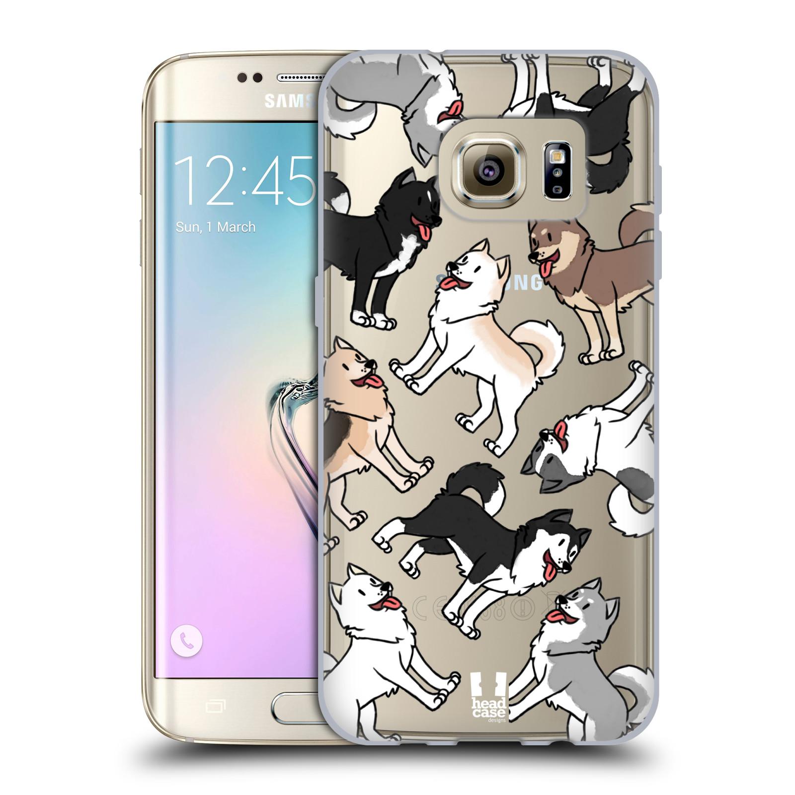 HEAD CASE silikonový obal na mobil Samsung Galaxy S7 EDGE pejsek Sibiřský husky