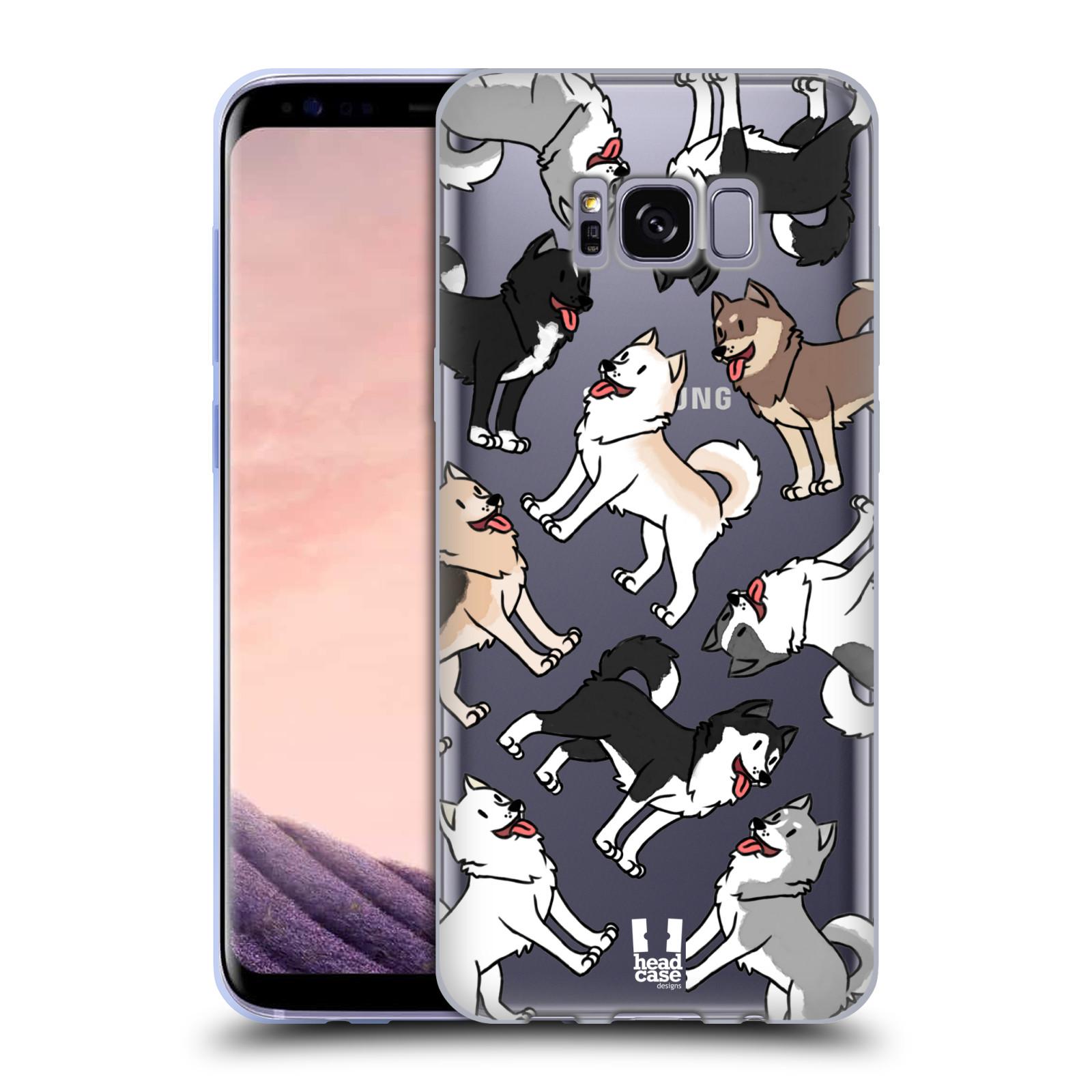 HEAD CASE silikonový obal na mobil Samsung Galaxy S8 pejsek Sibiřský husky