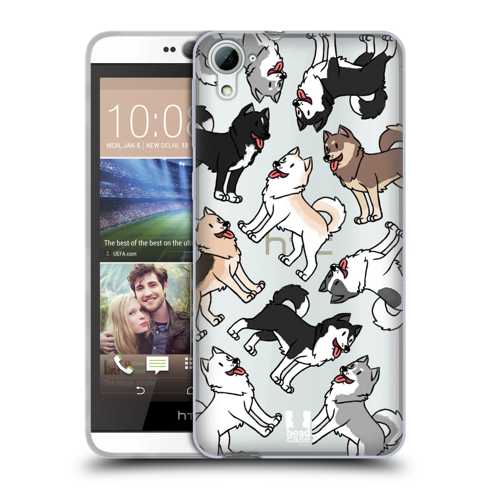 HEAD CASE silikonový obal na mobil HTC Desire 826 pejsek Sibiřský husky