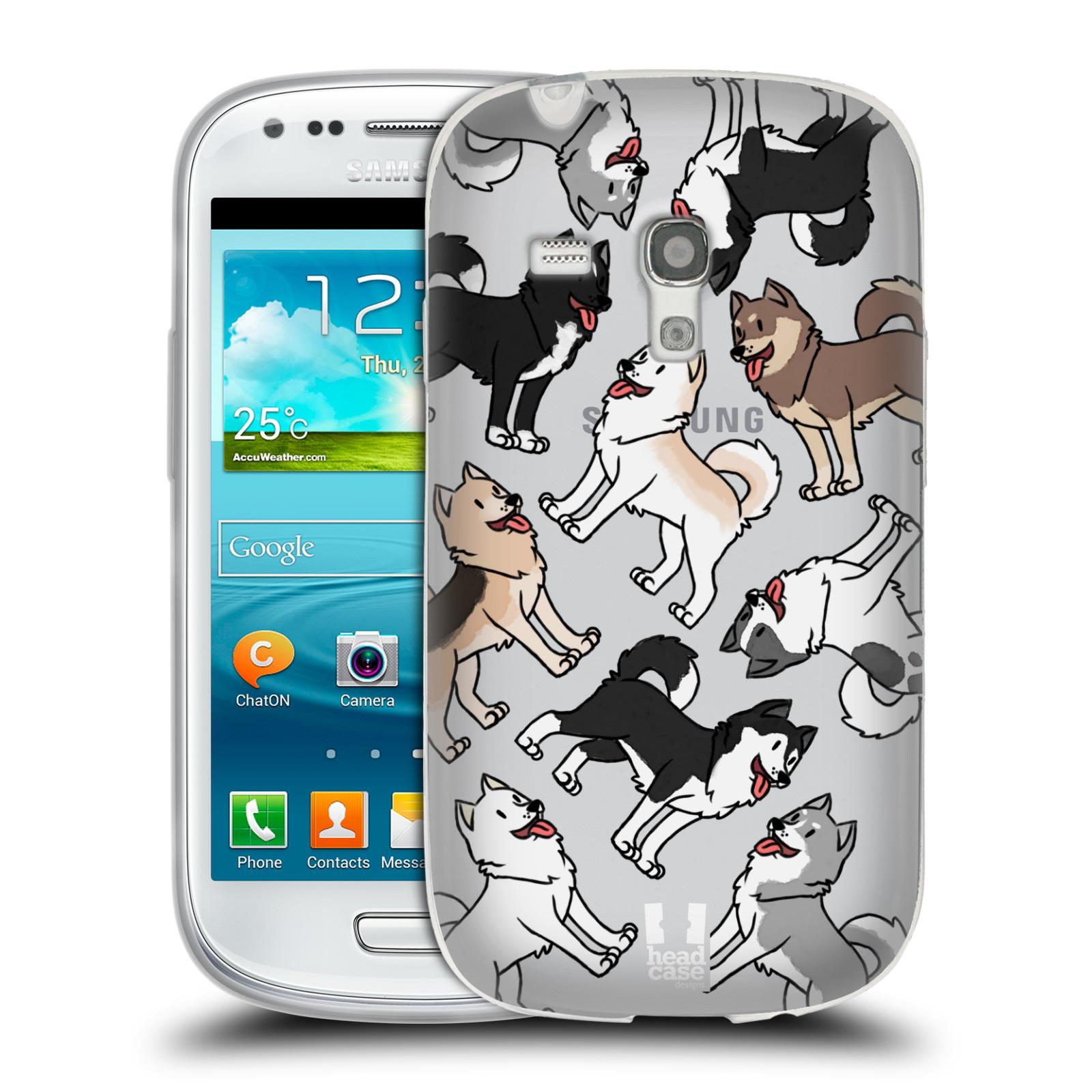 HEAD CASE silikonový obal na mobil Samsung Galaxy S3 MINI pejsek Sibiřský husky