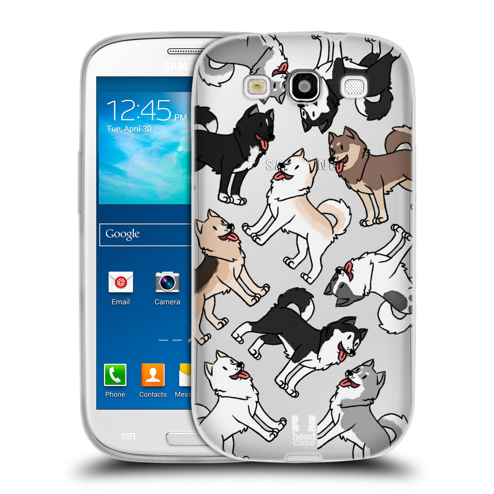 HEAD CASE silikonový obal na mobil Samsung Galaxy S3 pejsek Sibiřský husky