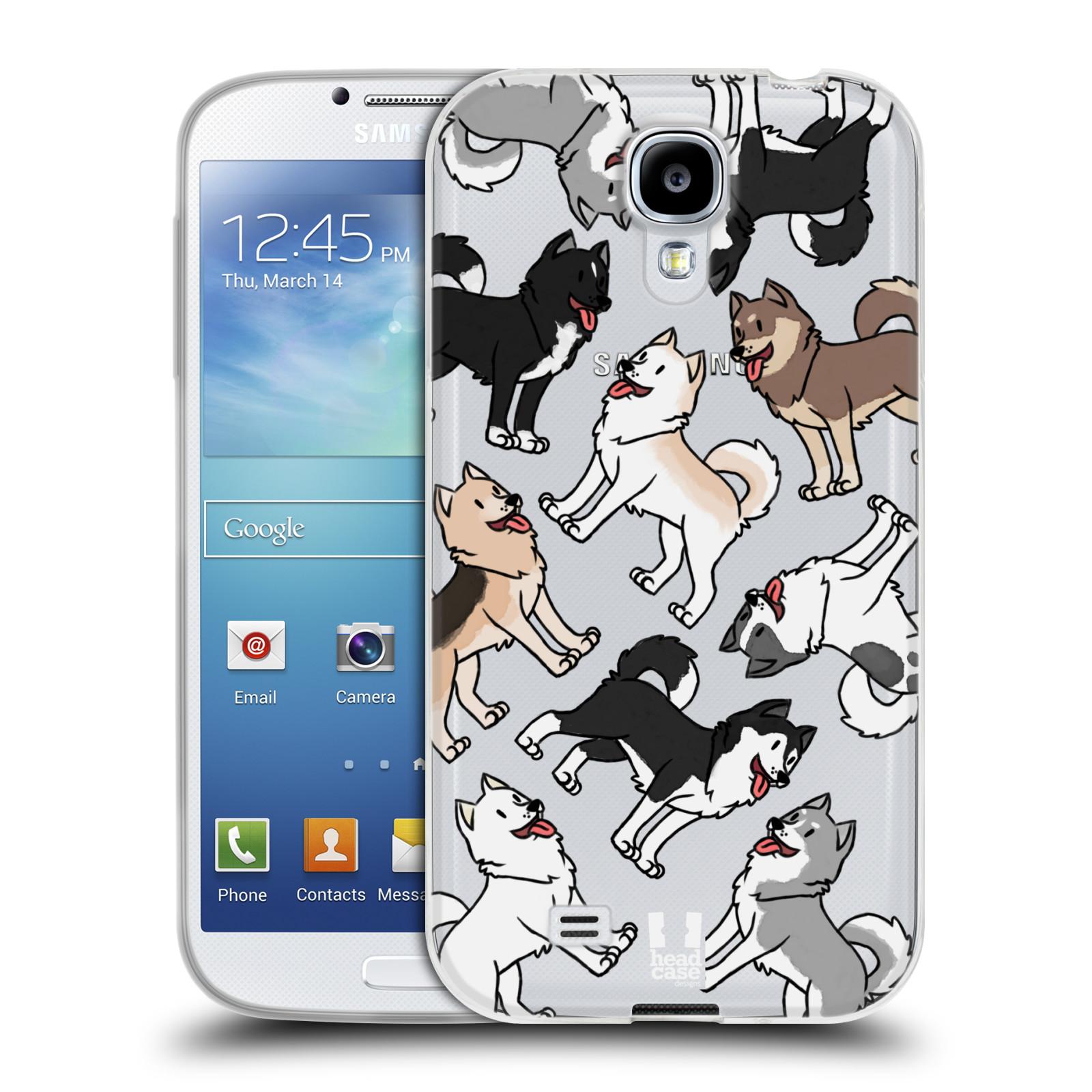 HEAD CASE silikonový obal na mobil Samsung Galaxy S4 pejsek Sibiřský husky
