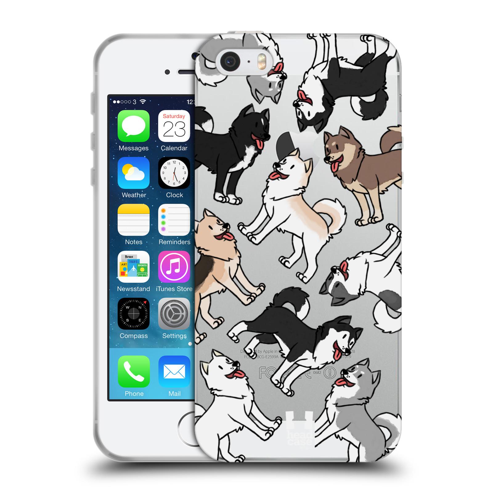 HEAD CASE silikonový obal na mobil Apple Iphone 5/5S pejsek Sibiřský husky