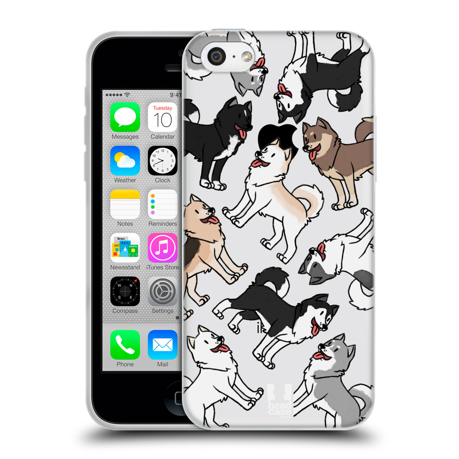 HEAD CASE silikonový obal na mobil Apple Iphone 5C pejsek Sibiřský husky