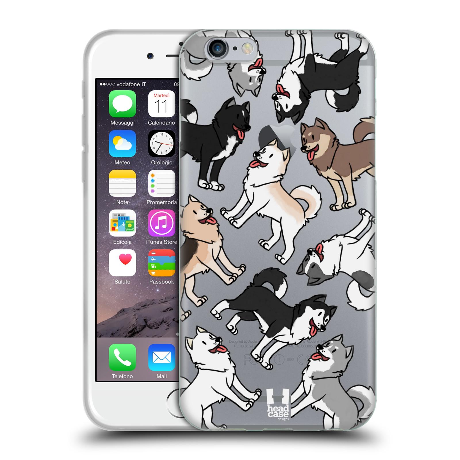 HEAD CASE silikonový obal na mobil Apple Iphone 6/6S pejsek Sibiřský husky