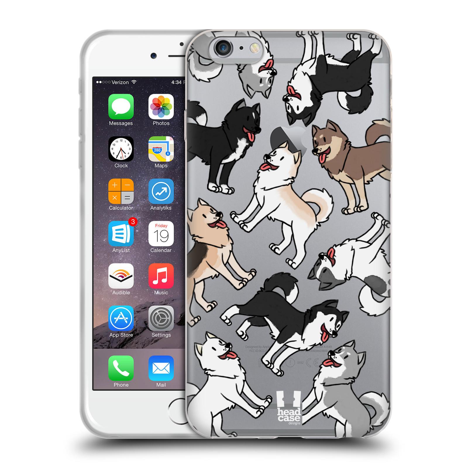 HEAD CASE silikonový obal na mobil Apple Iphone 6/6S PLUS pejsek Sibiřský husky