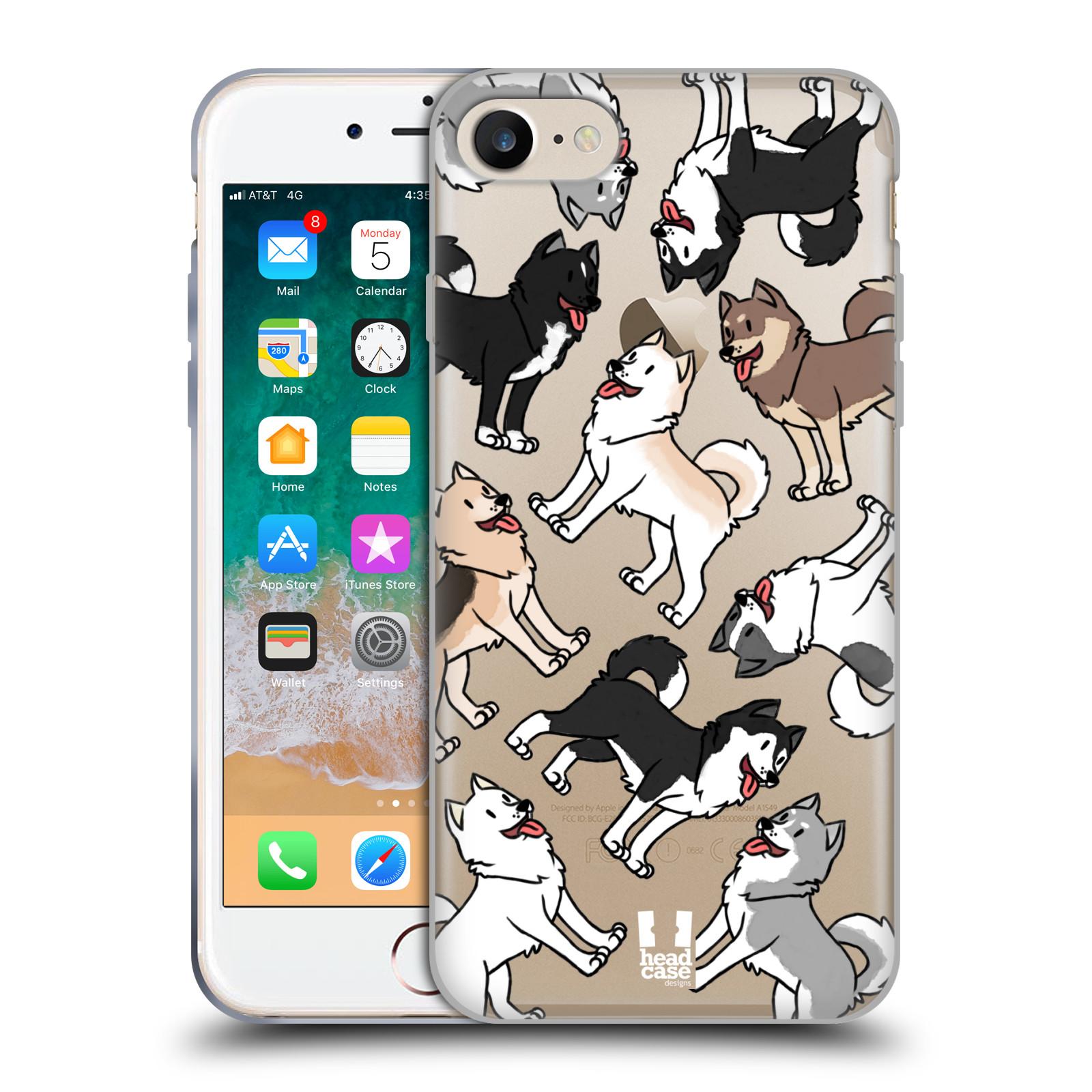 HEAD CASE silikonový obal na mobil Apple Iphone 7 pejsek Sibiřský husky