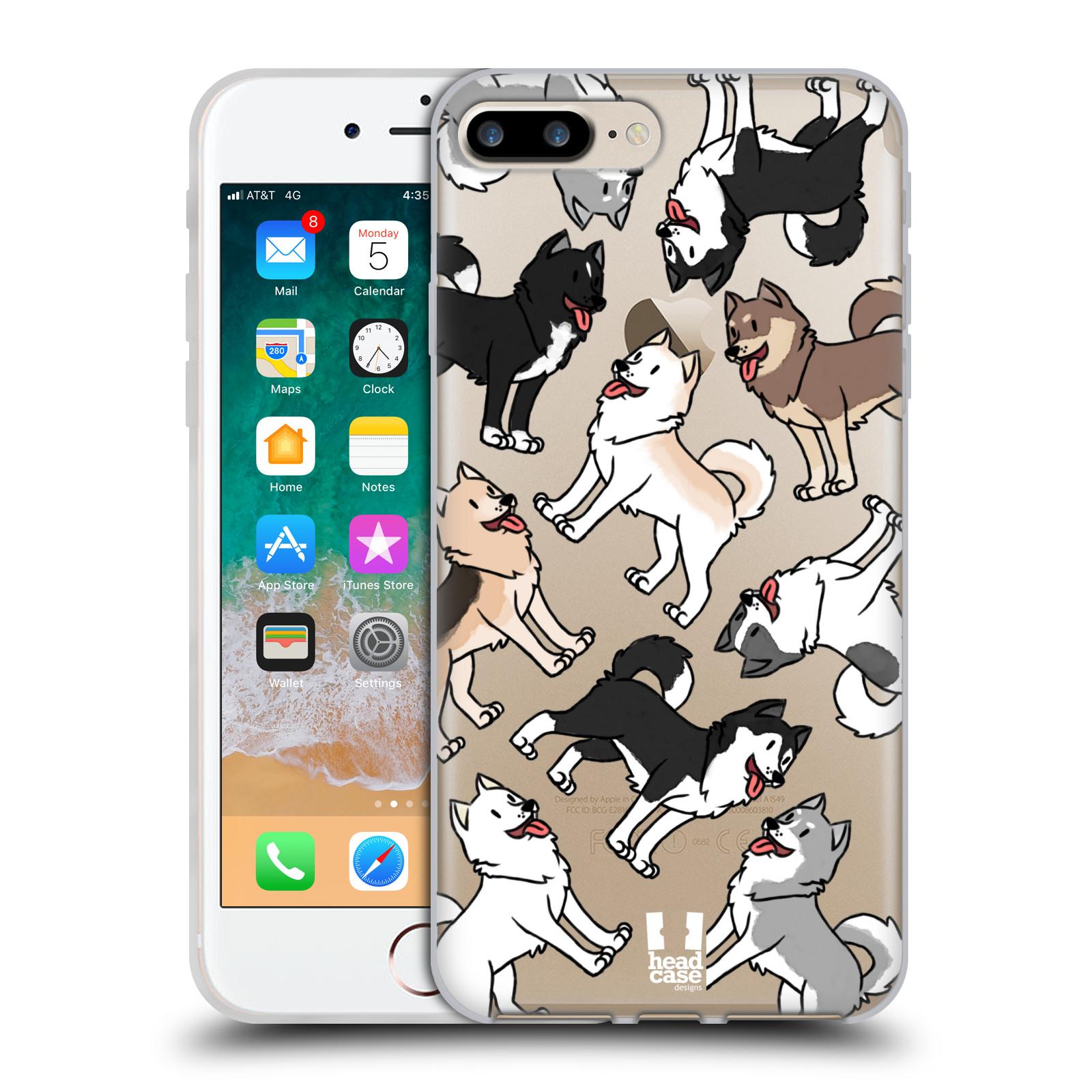 HEAD CASE silikonový obal na mobil Apple Iphone 7 PLUS pejsek Sibiřský husky