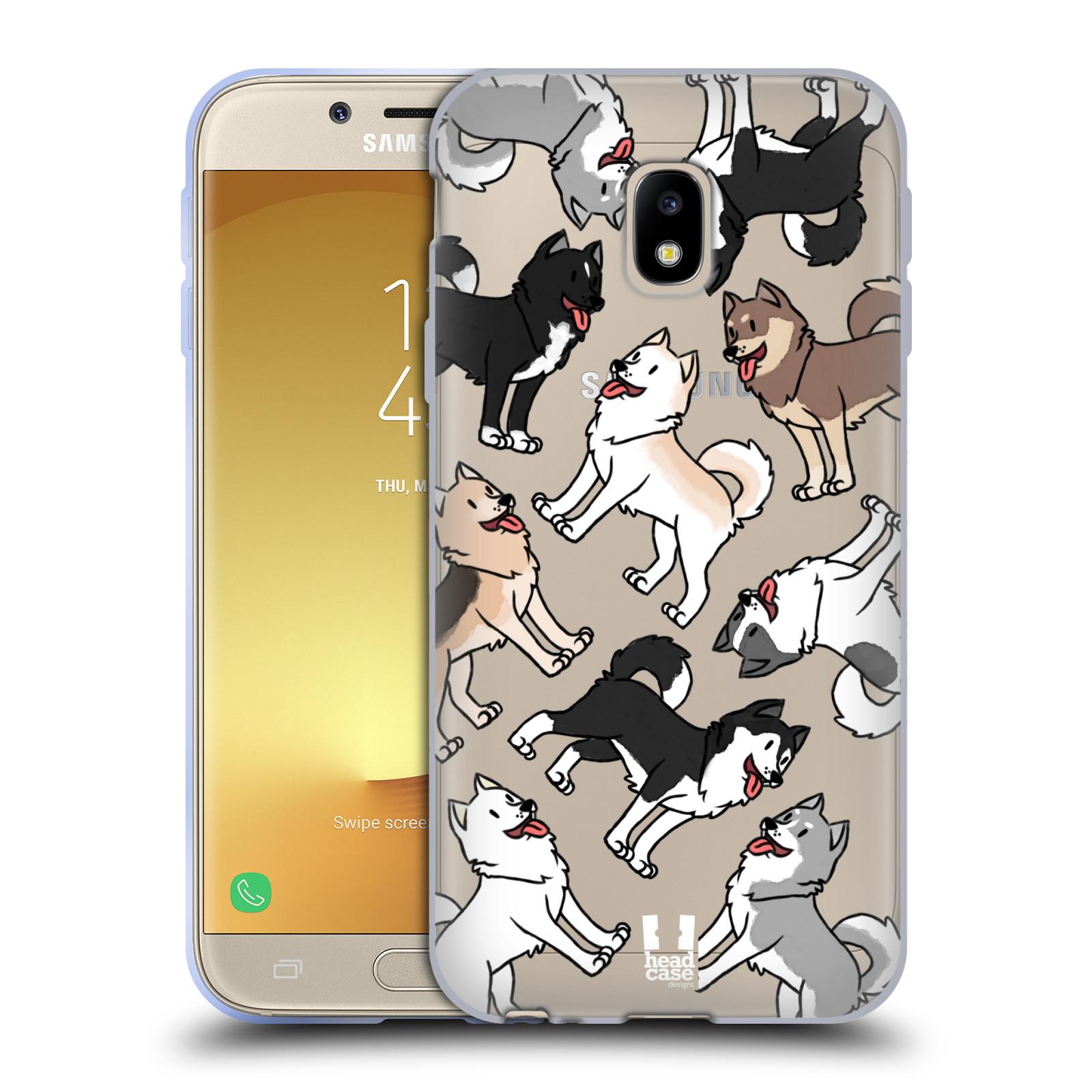 HEAD CASE silikonový obal na mobil Samsung Galaxy J3 2017 (J330, J330F) pejsek Sibiřský husky