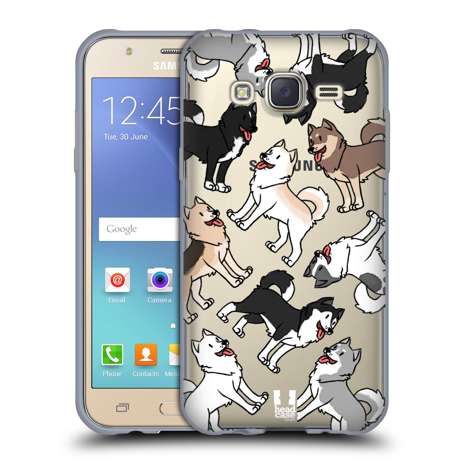 HEAD CASE silikonový obal na mobil Samsung Galaxy J5 2015 (J500) pejsek Sibiřský husky