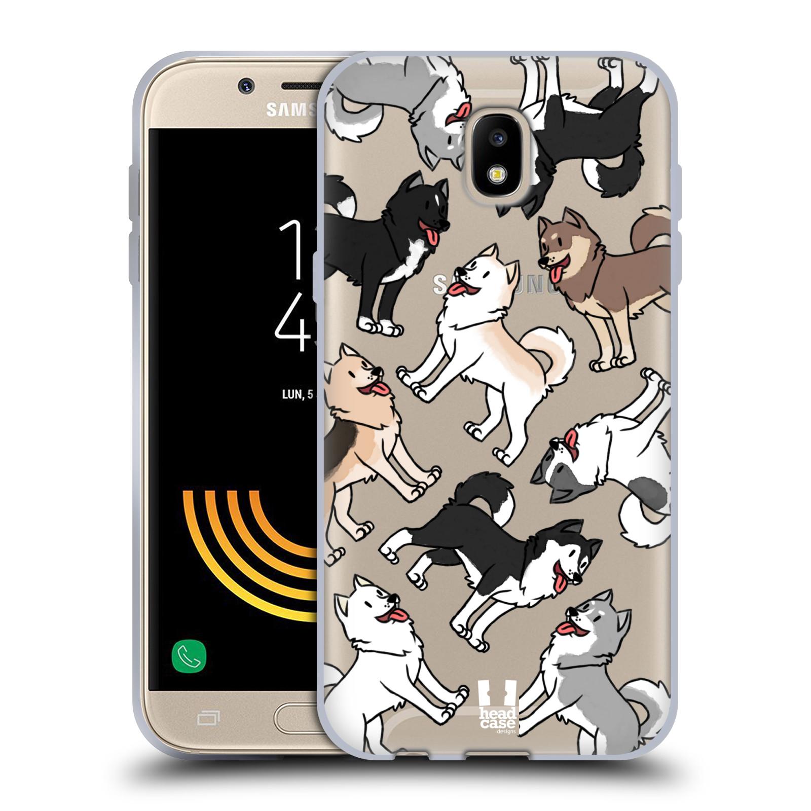HEAD CASE silikonový obal na mobil Samsung Galaxy J5 2017 pejsek Sibiřský husky