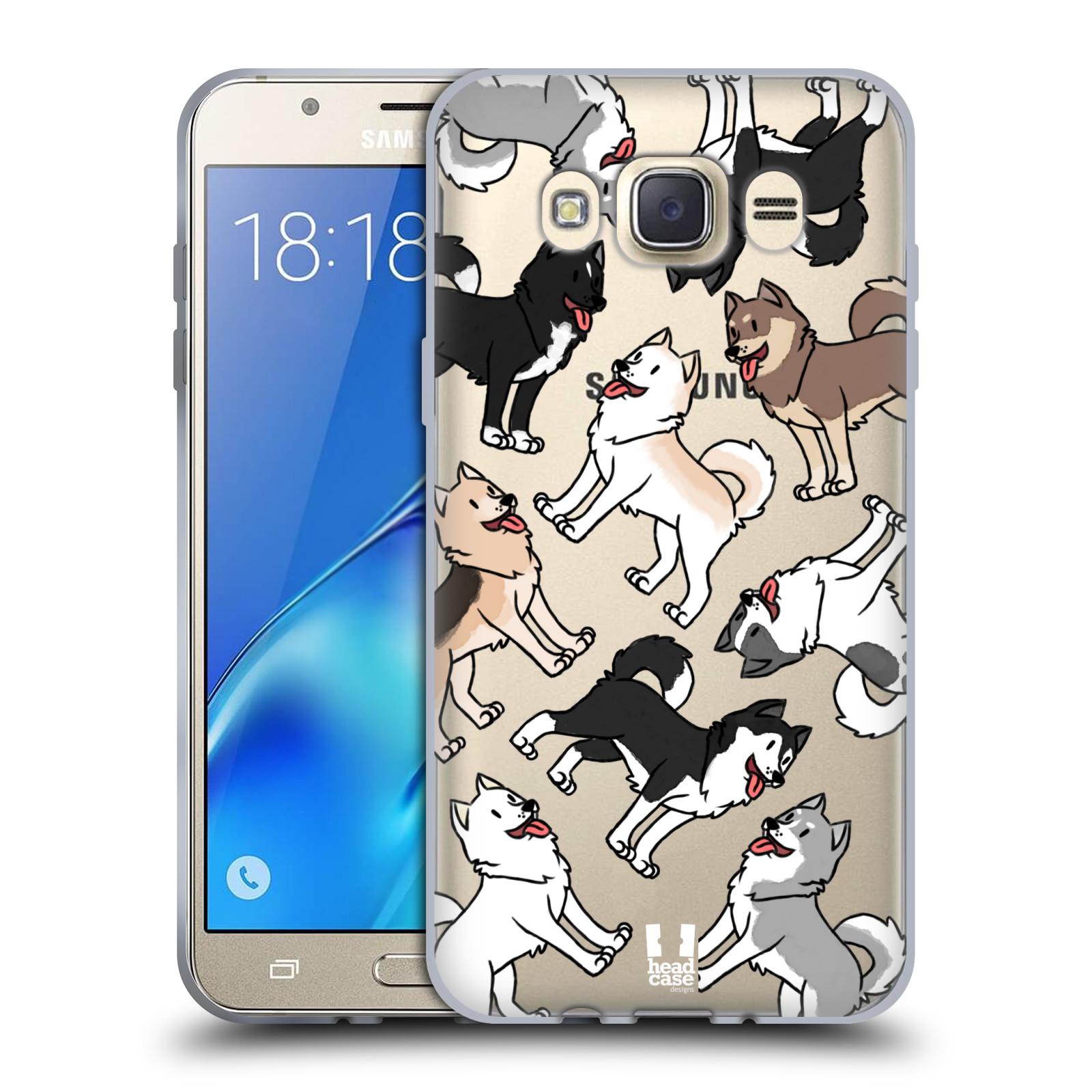 HEAD CASE silikonový obal na mobil Samsung Galaxy J7 2016 pejsek Sibiřský husky