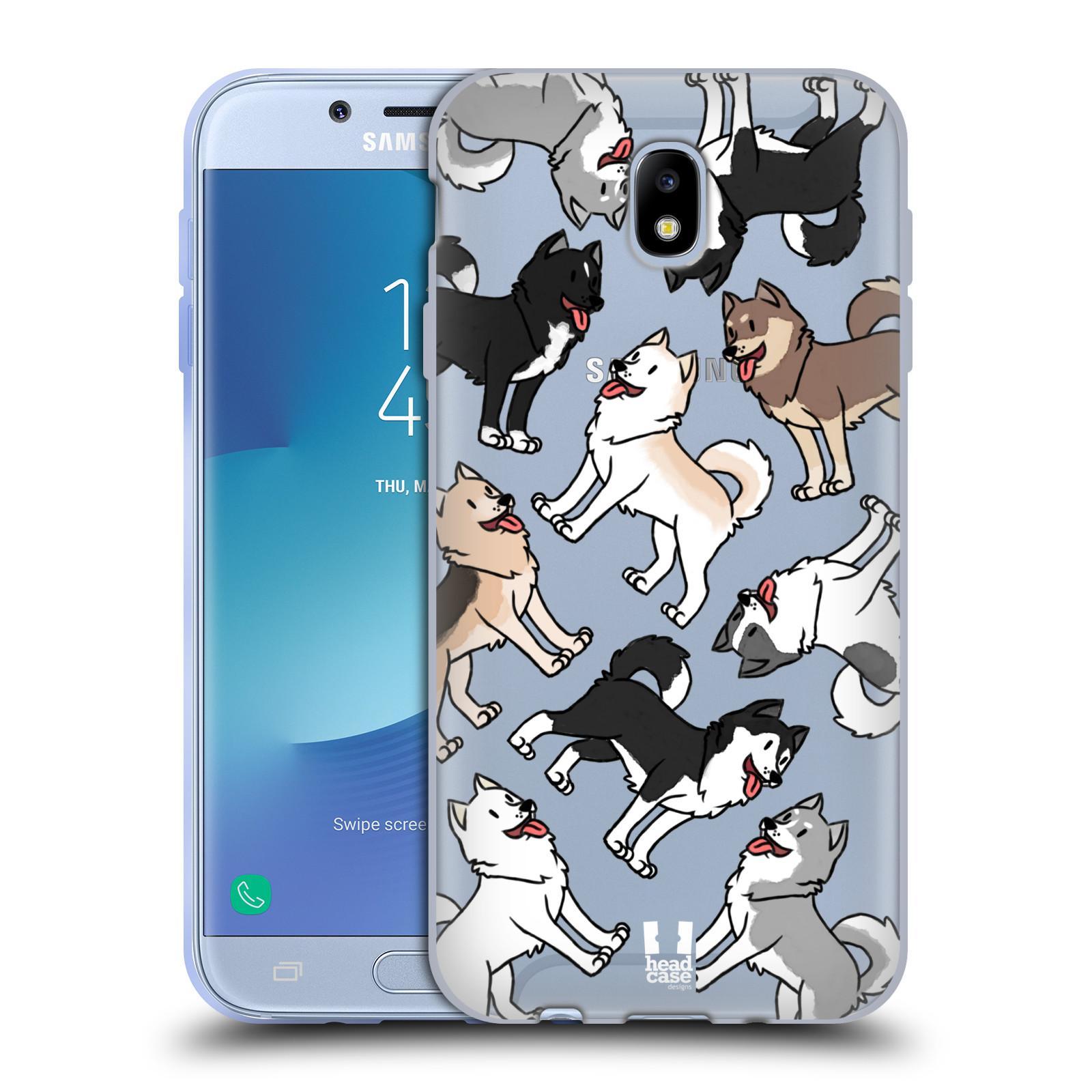 HEAD CASE silikonový obal na mobil Samsung Galaxy J7 2017 pejsek Sibiřský husky