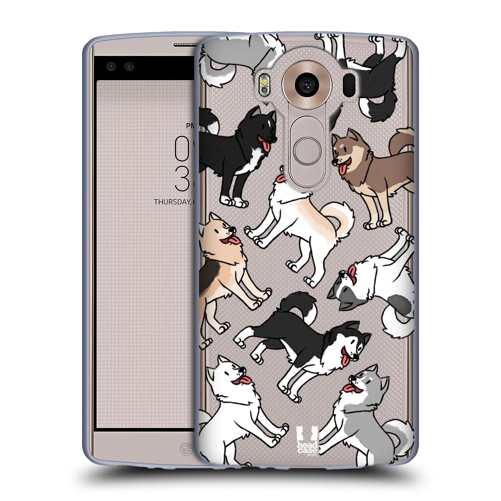 HEAD CASE silikonový obal na mobil LG V10 pejsek Sibiřský husky