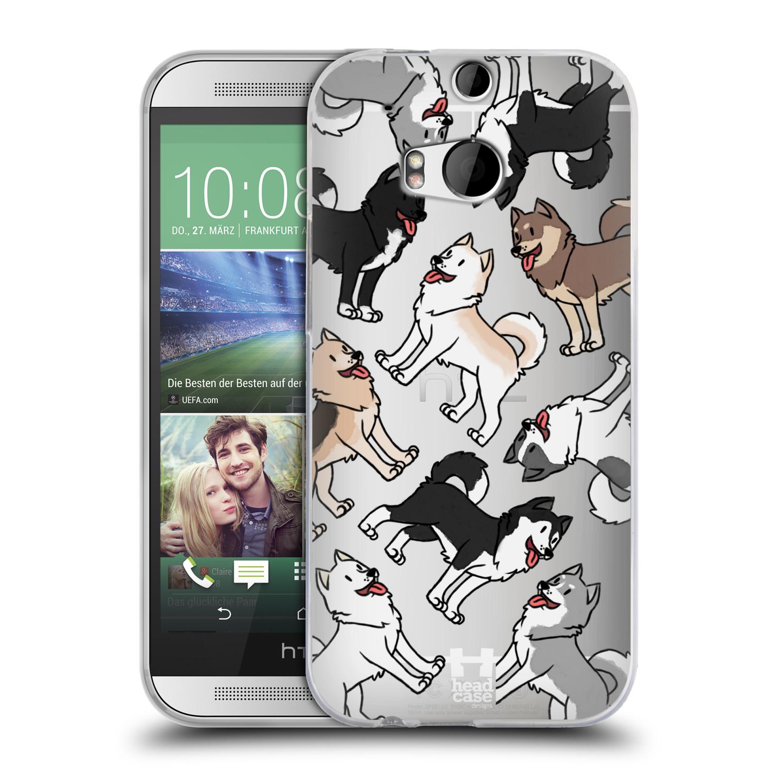 HEAD CASE silikonový obal na mobil HTC one M8 / M8s pejsek Sibiřský husky