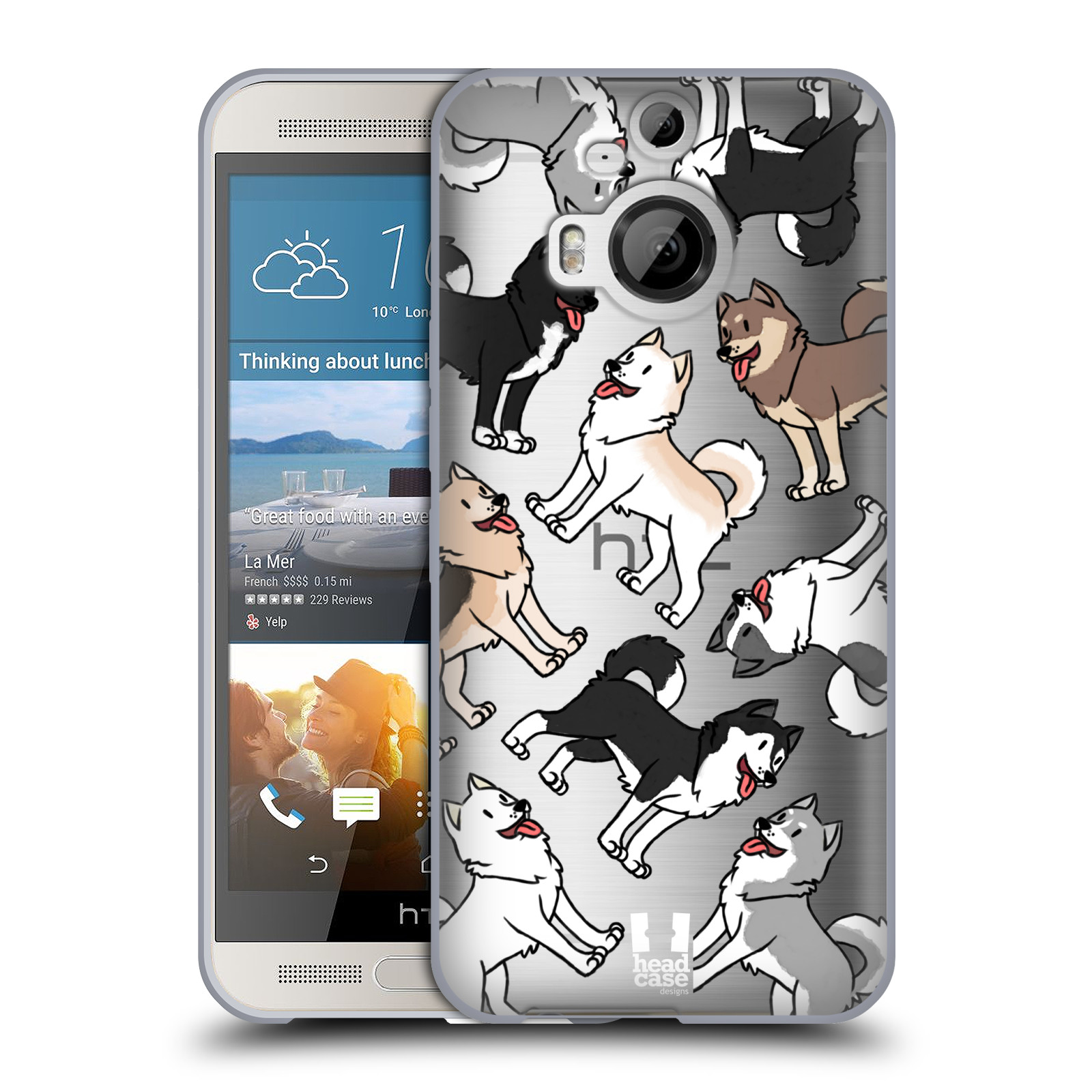 HEAD CASE silikonový obal na mobil HTC One M9 PLUS pejsek Sibiřský husky
