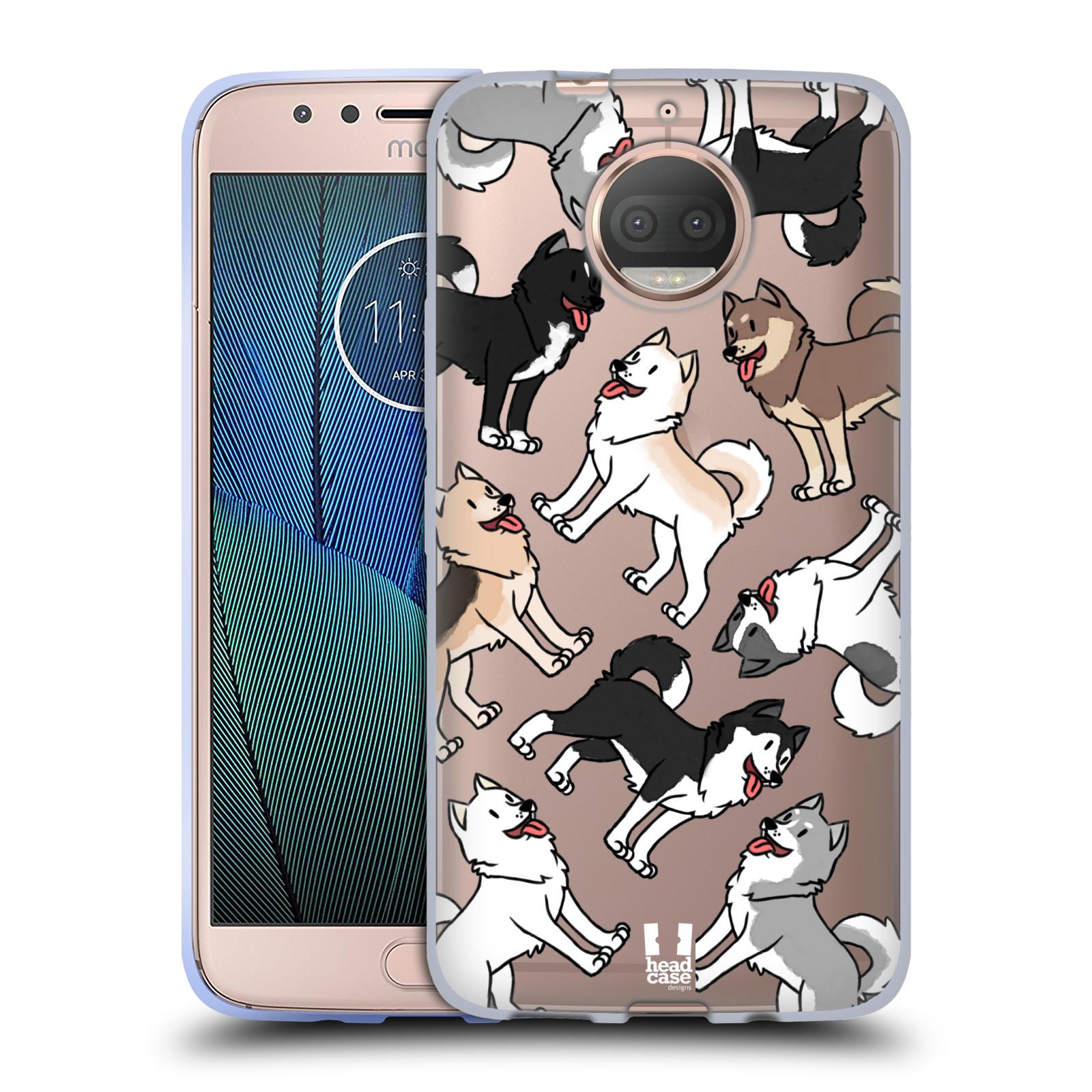 HEAD CASE silikonový obal na mobil Lenovo Moto G5s PLUS pejsek Sibiřský husky
