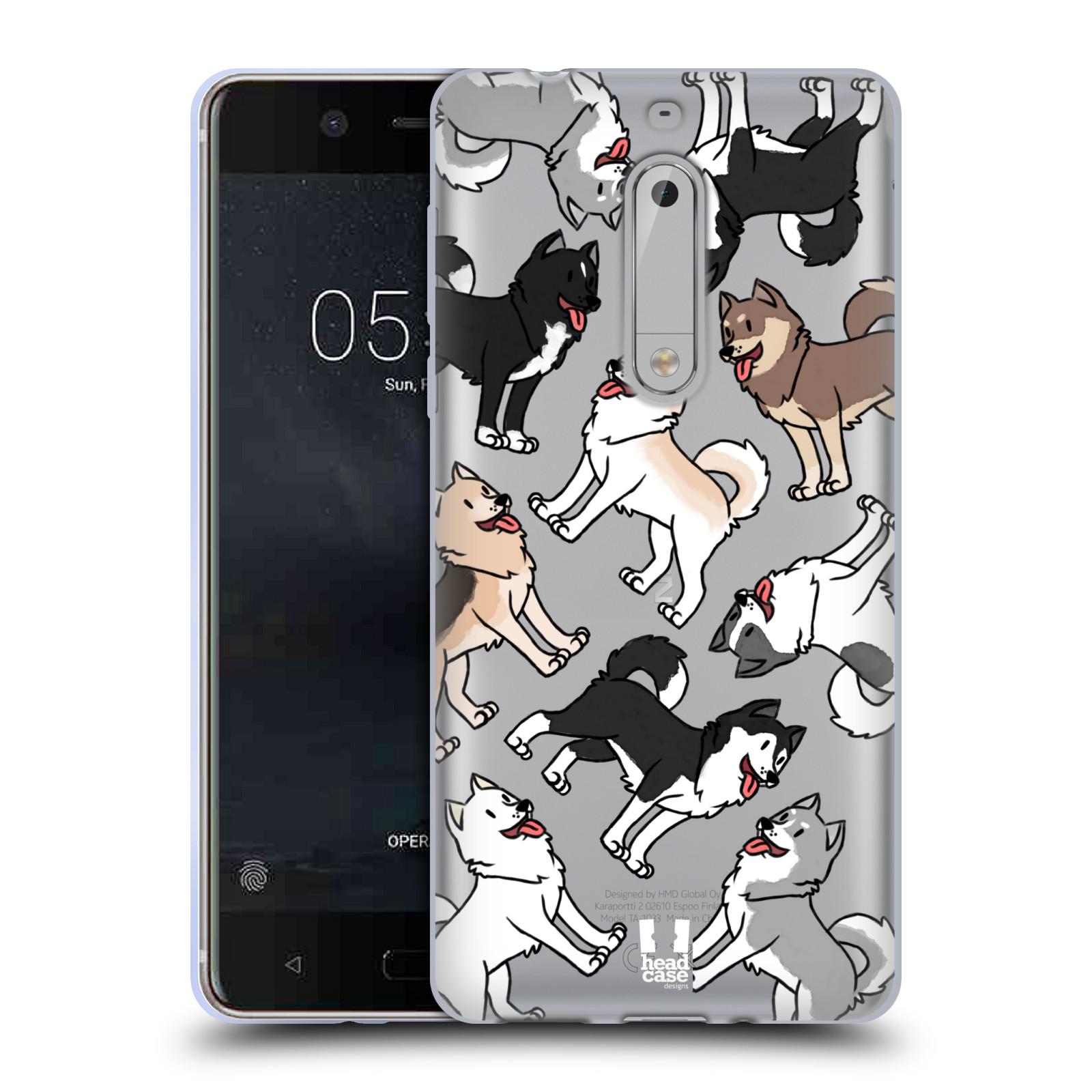 HEAD CASE silikonový obal na mobil Nokia 5 pejsek Sibiřský husky