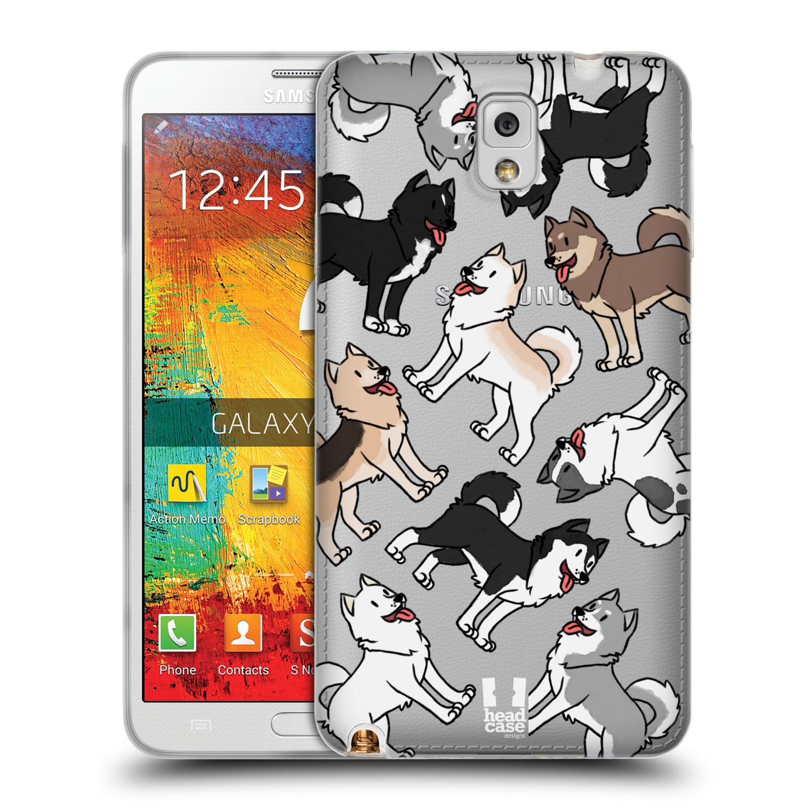 HEAD CASE silikonový obal na mobil Samsung Galaxy Note 3 pejsek Sibiřský husky