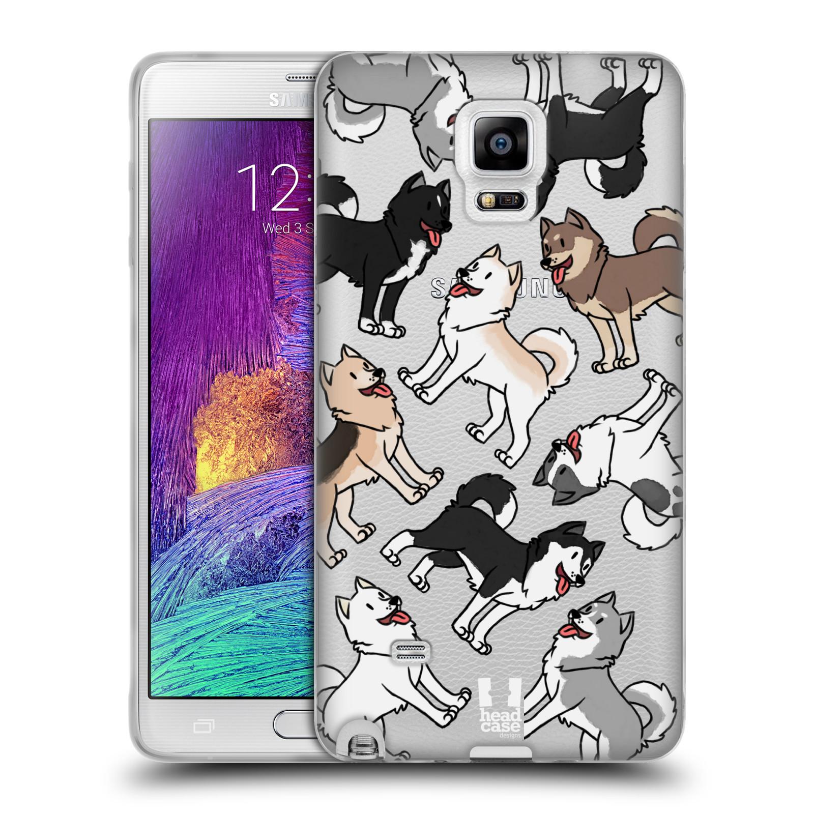 HEAD CASE silikonový obal na mobil Samsung Galaxy Note 4 pejsek Sibiřský husky